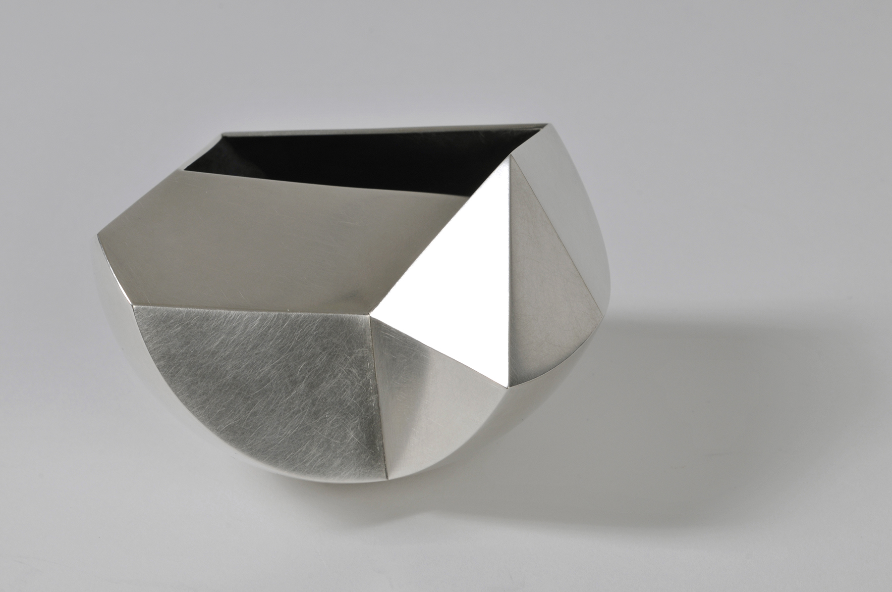 'Facet Bowl' in sterling silver
