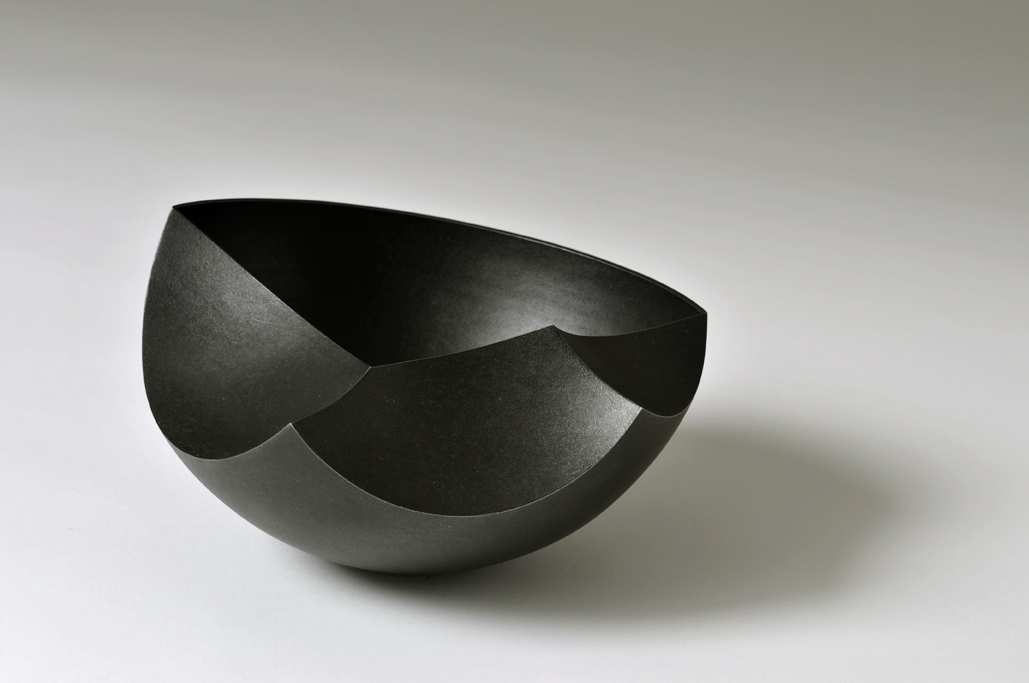 'Introverted Bowl' in patinated copper
