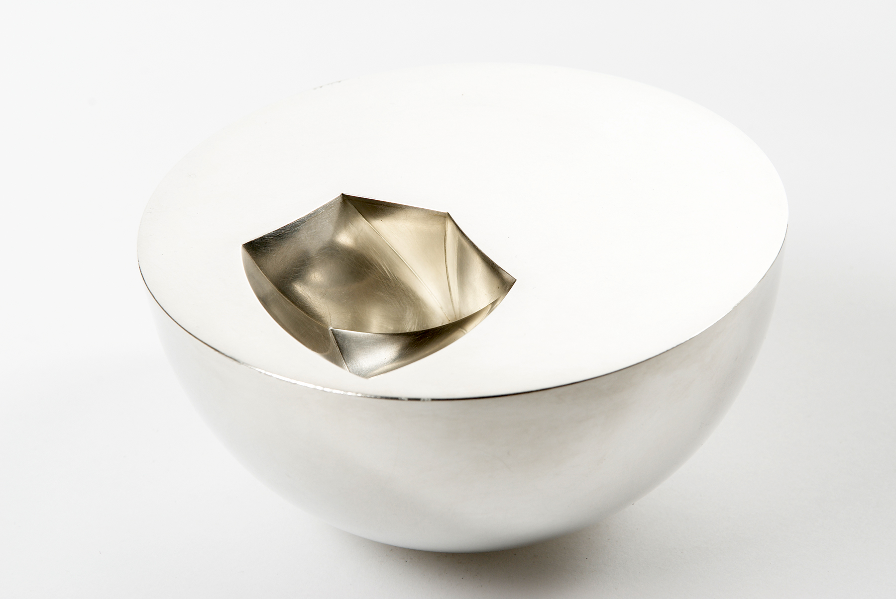 'Void Bowl' in sterling silver