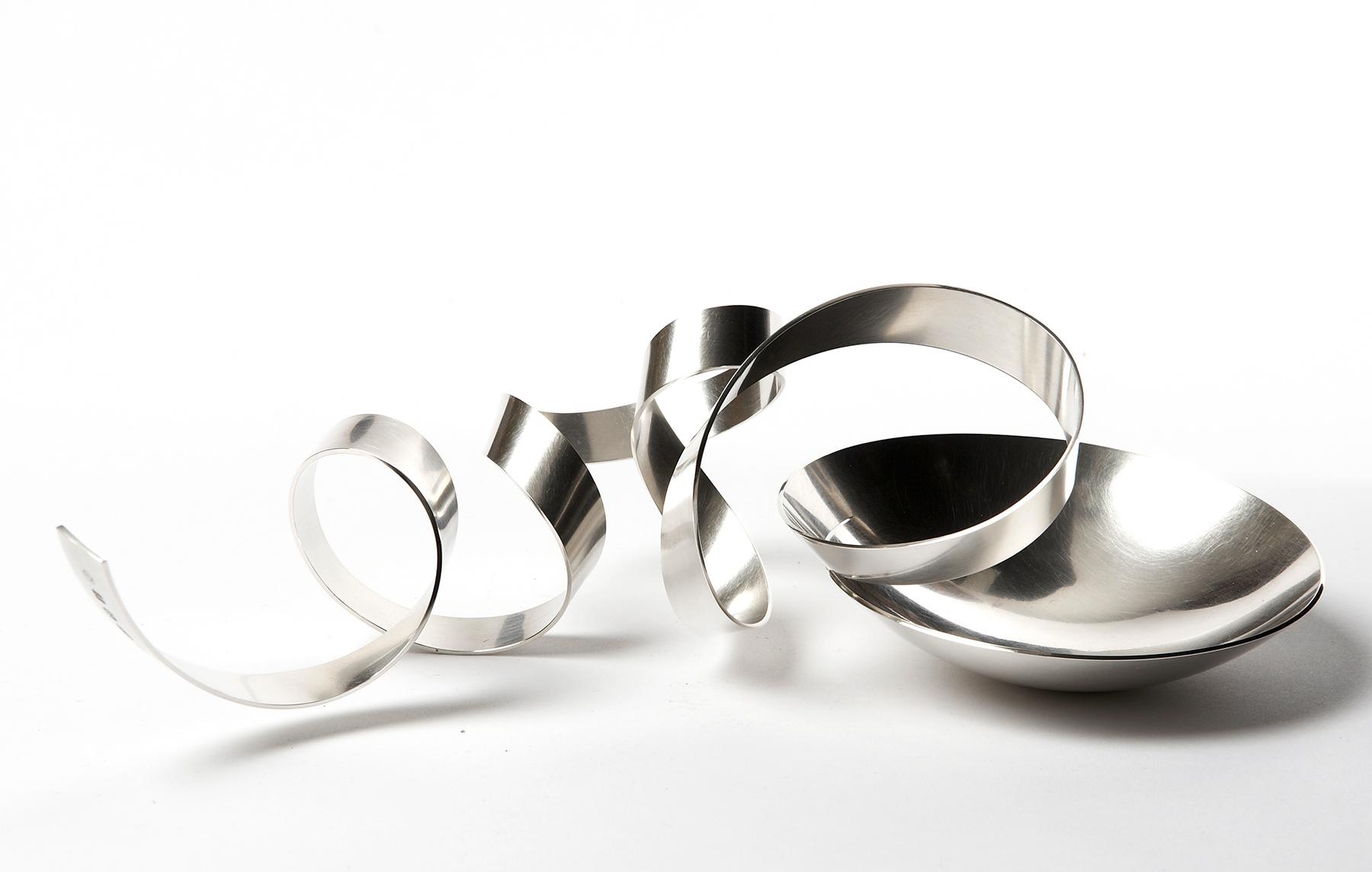 no 1 'Ribbon Bowl' sterling silver