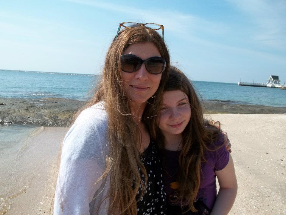 Dawn with her daughter in 2012.