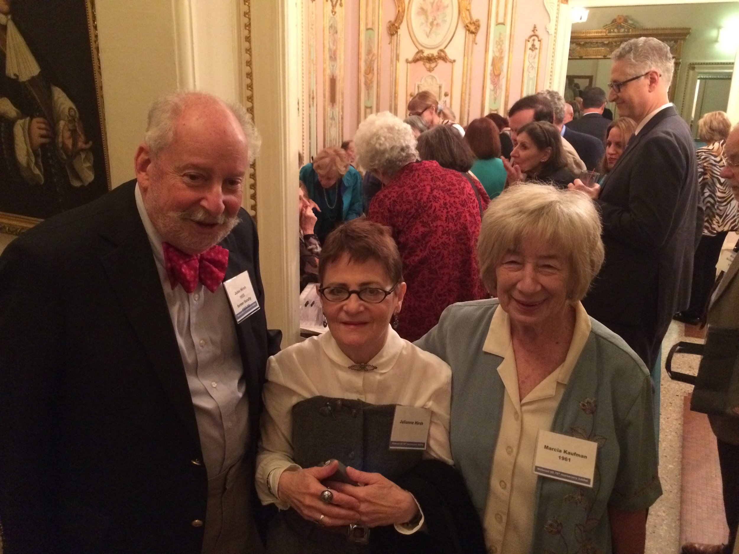 Jules Hirsh '51, Julianne Hirsh, & Marcia Kaufman '61 AKA Ms. Midwood