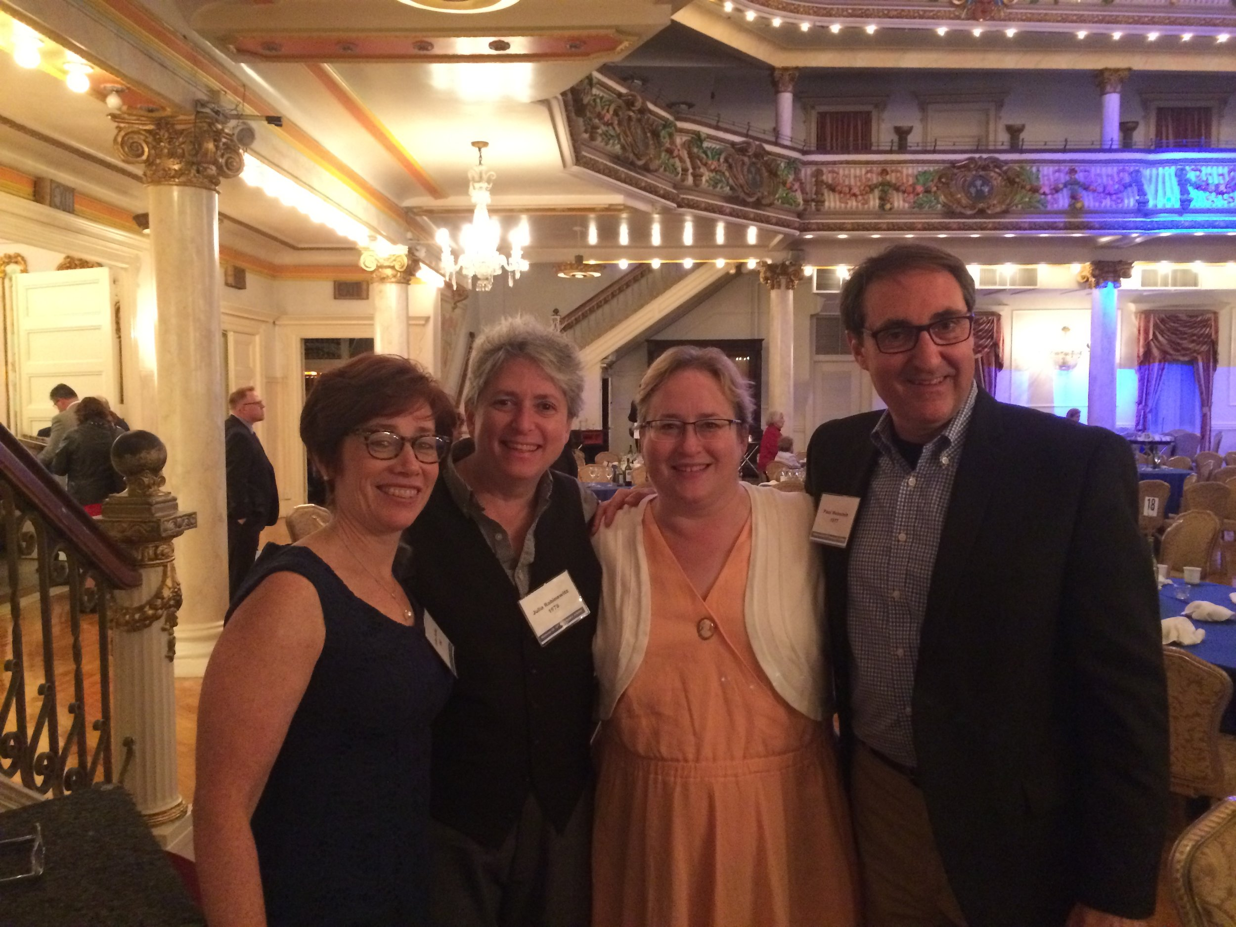 Felice Farber '82, Julia Rabinowitz '78, Wendy Guida '83, Paul Weinstein '77