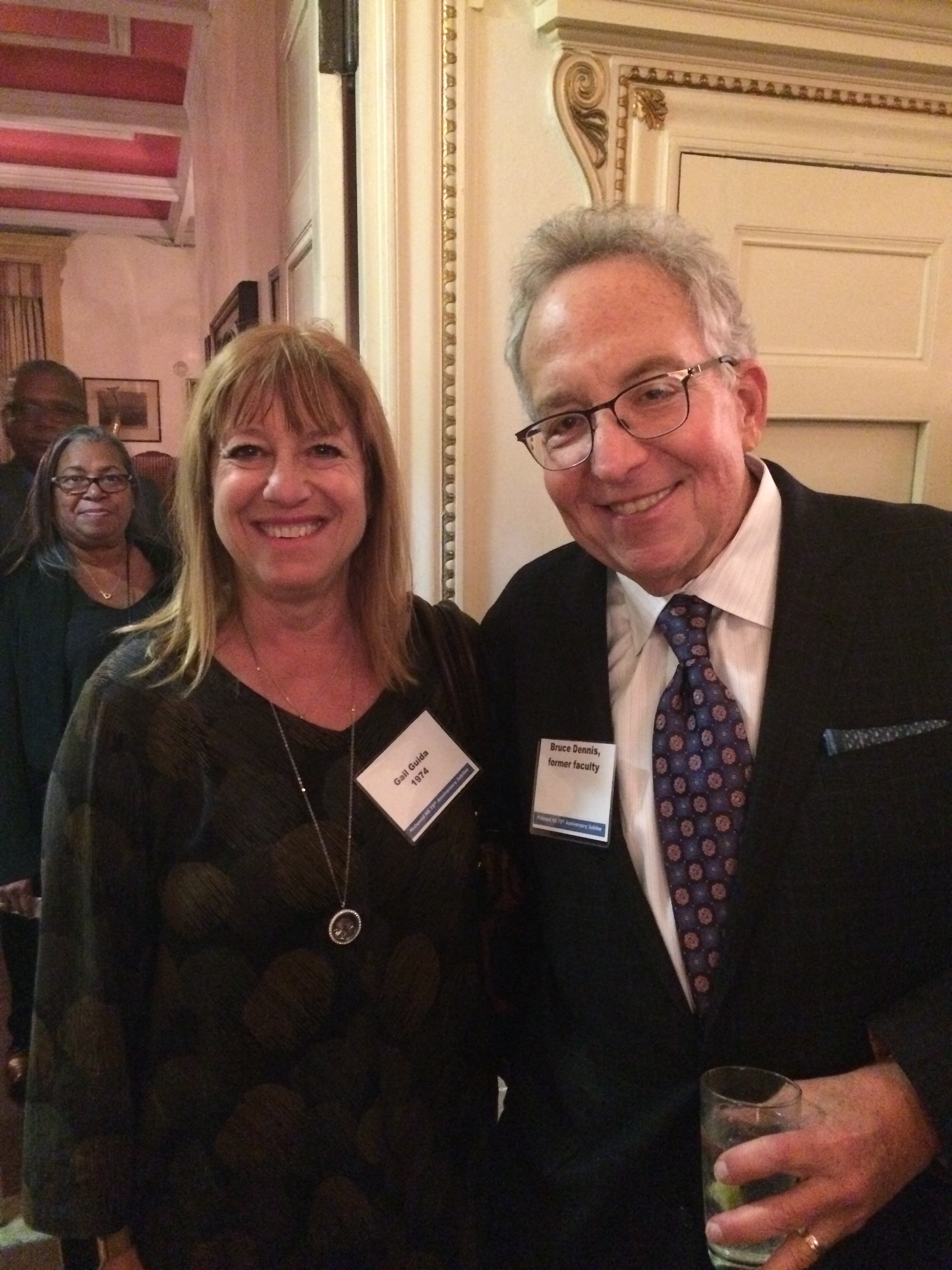 Gail Guida Seligson '74 & Bruce Dennis, former English faculty