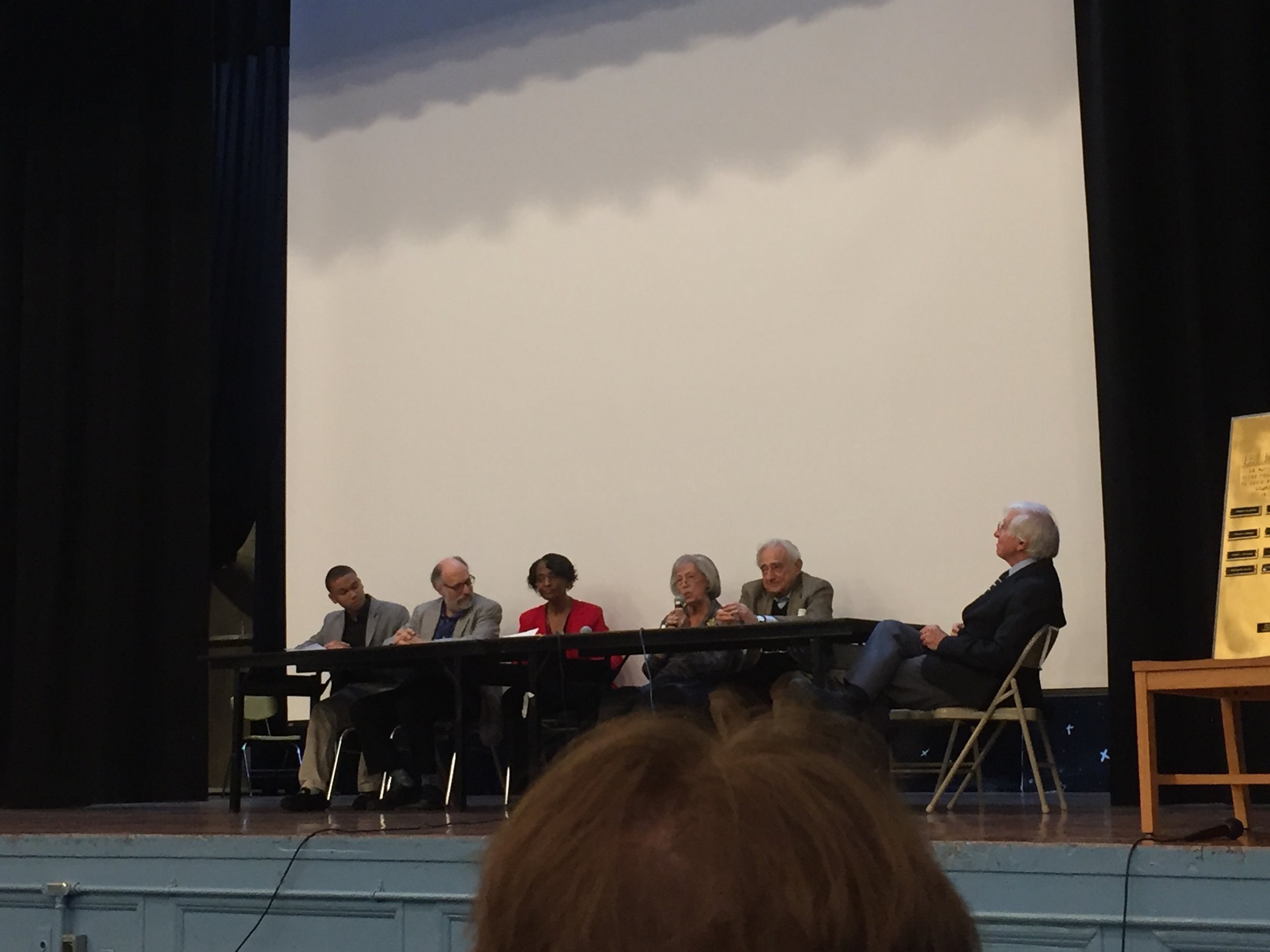 Mayors Panel led by Diane Steinbrink, '54