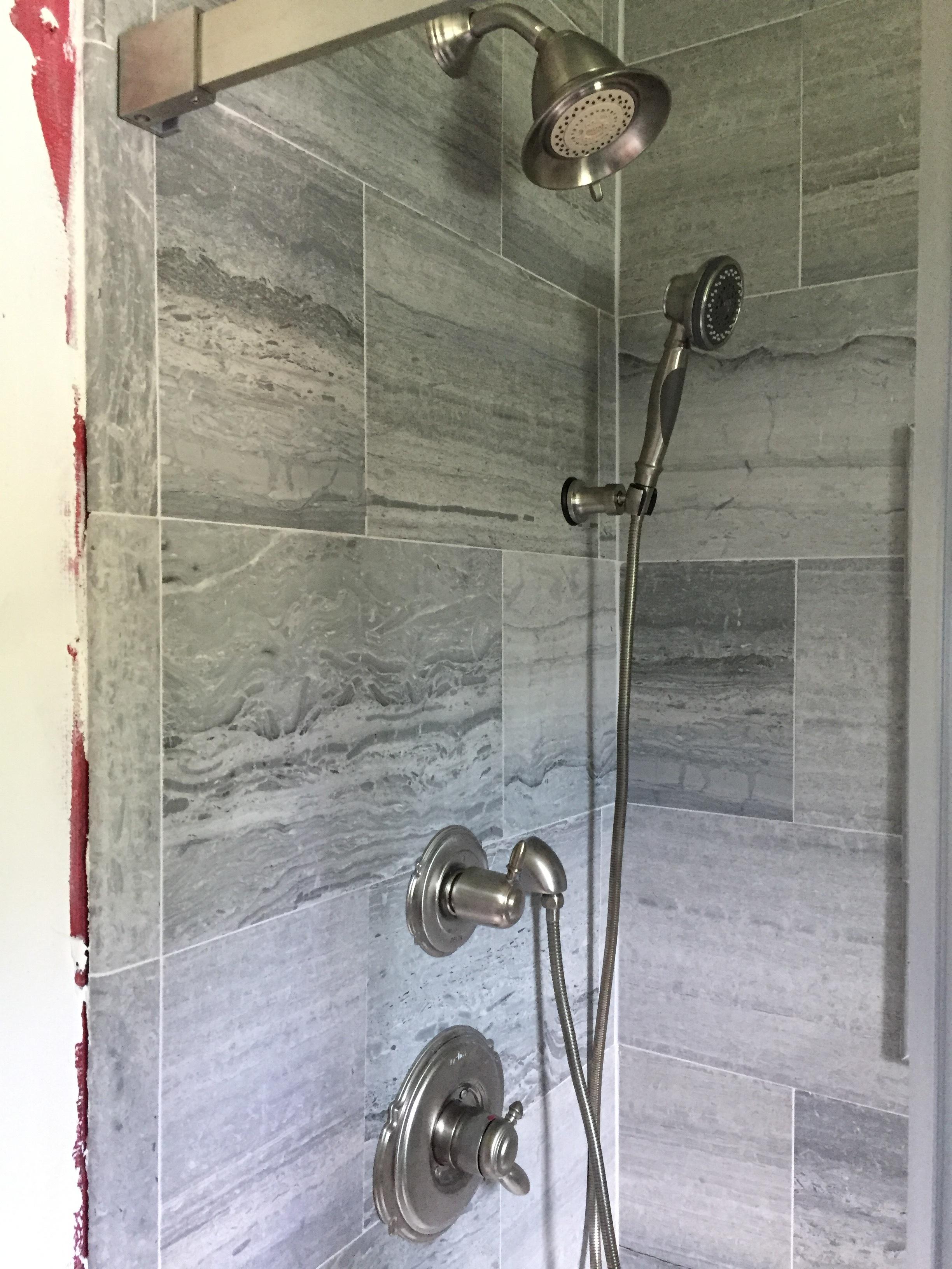 Custom Bathroom Travertine Shower