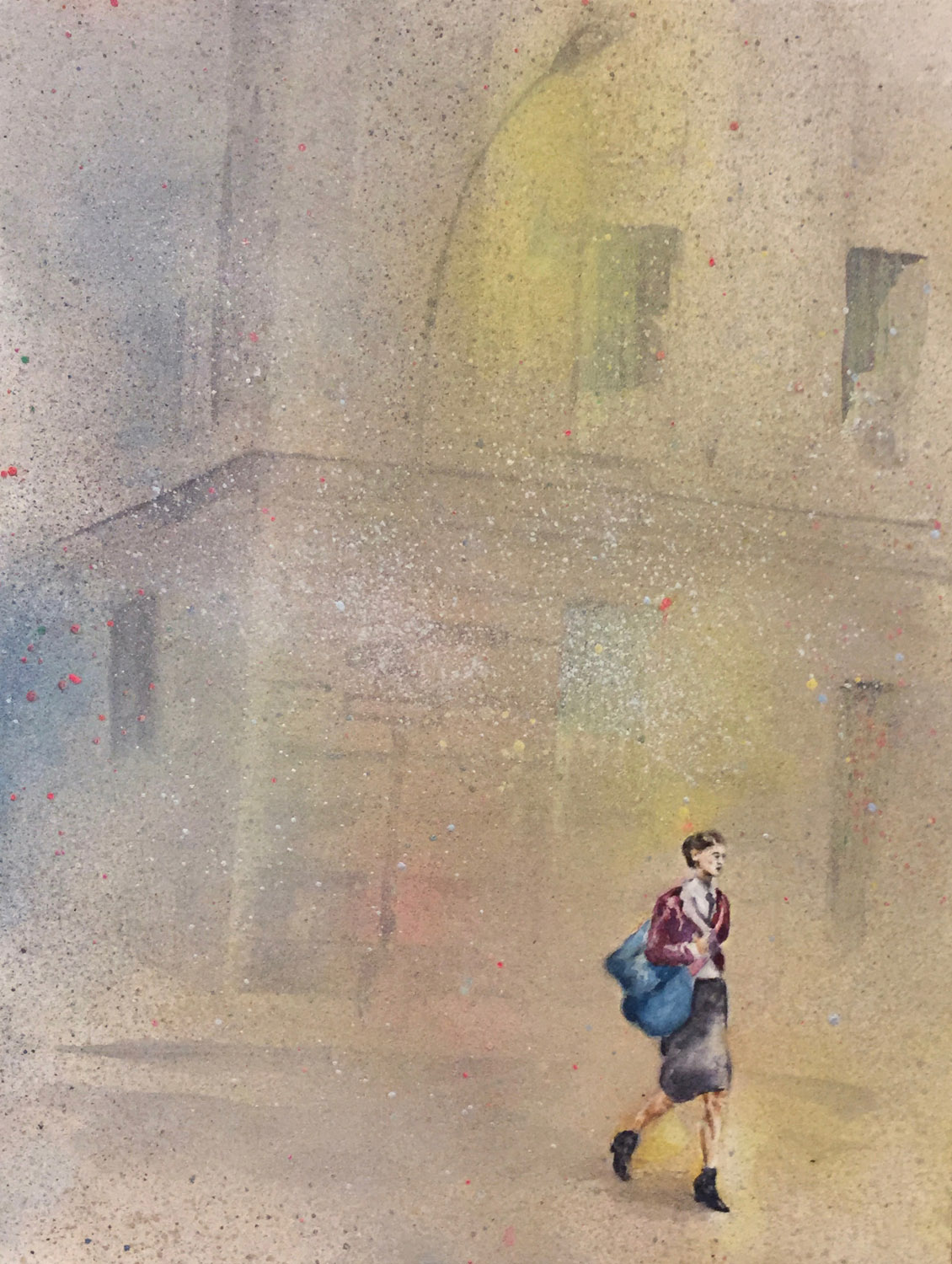 """The Walk • Mixed media on paper ∙ 12 x 9"""" ∙ 2014"""