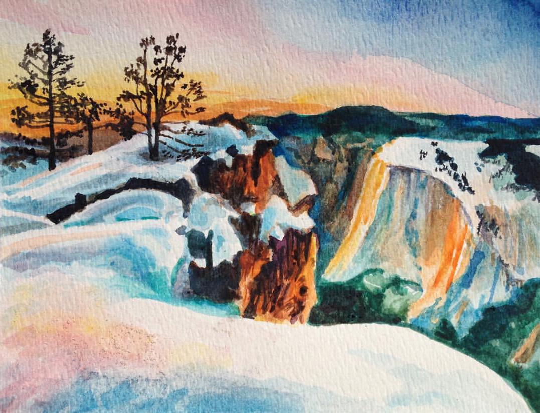 "Yosemite • Watercolor on paper ∙ 6 x 9"" ∙ 2016"