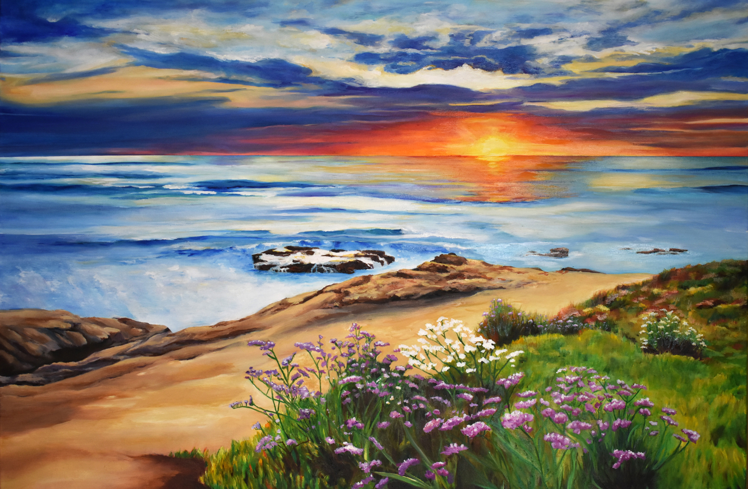 "California Sunset (Commission) • Oil on canvas ∙ 30 x 40"" ∙ 2016"