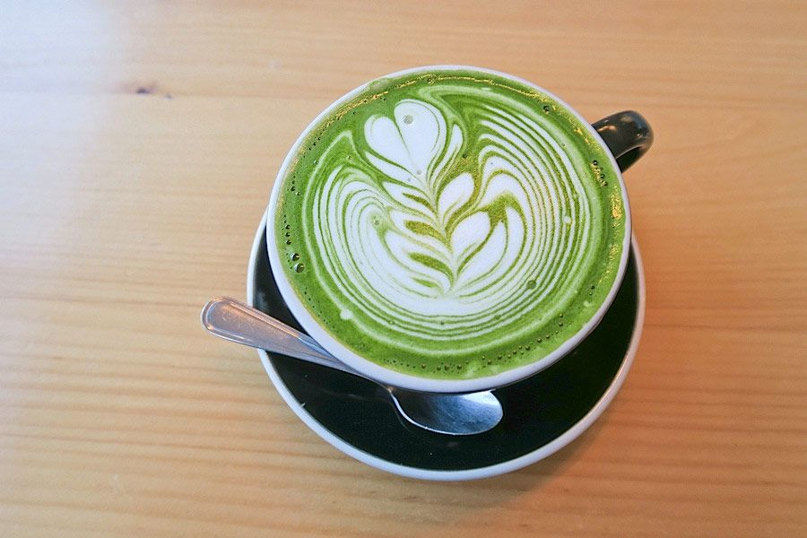 "The Matcha Latte: ""wickedly good for you""  Pic & Quote from Bare Blends"