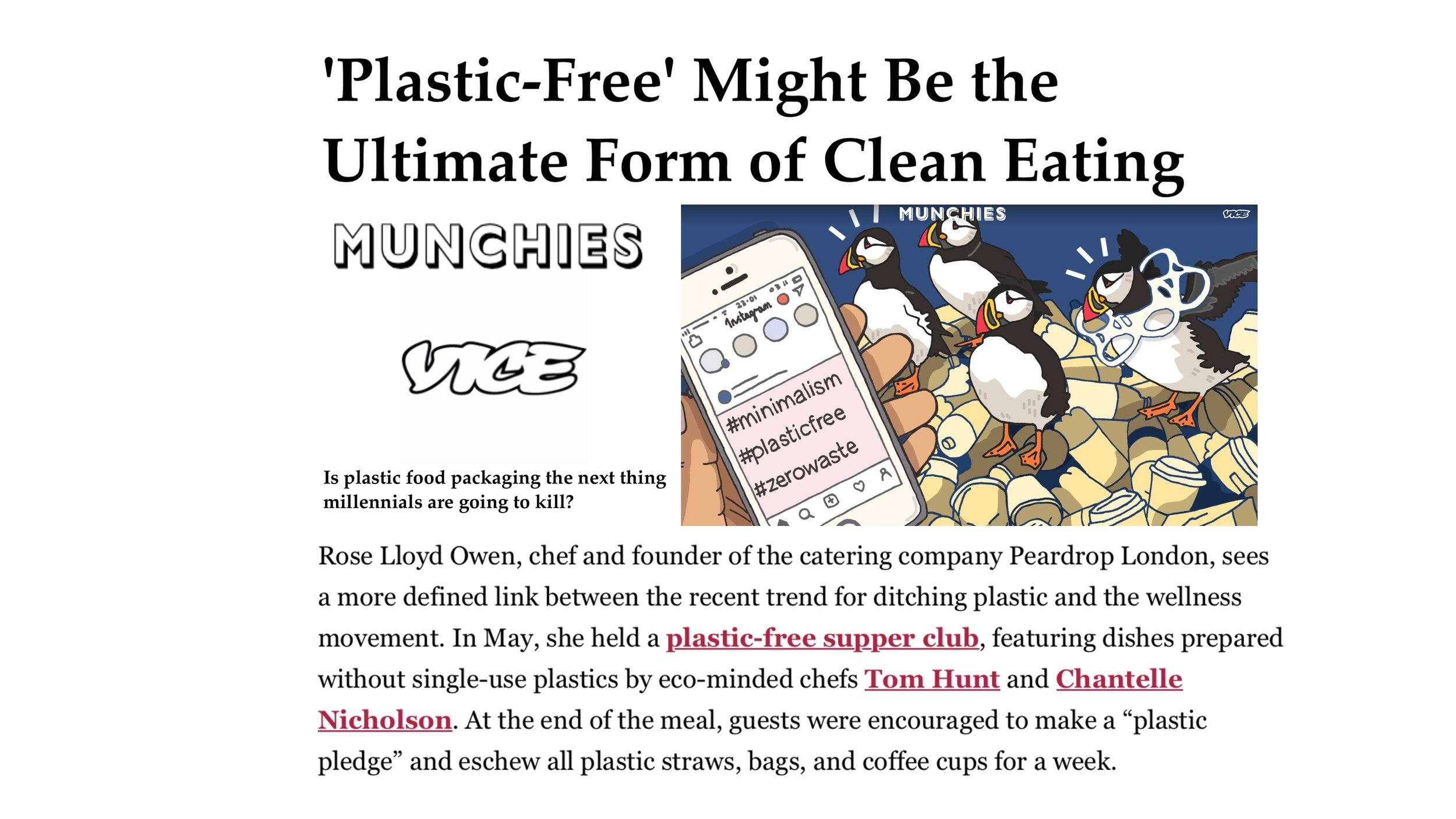 Vice Munchies, August 2018