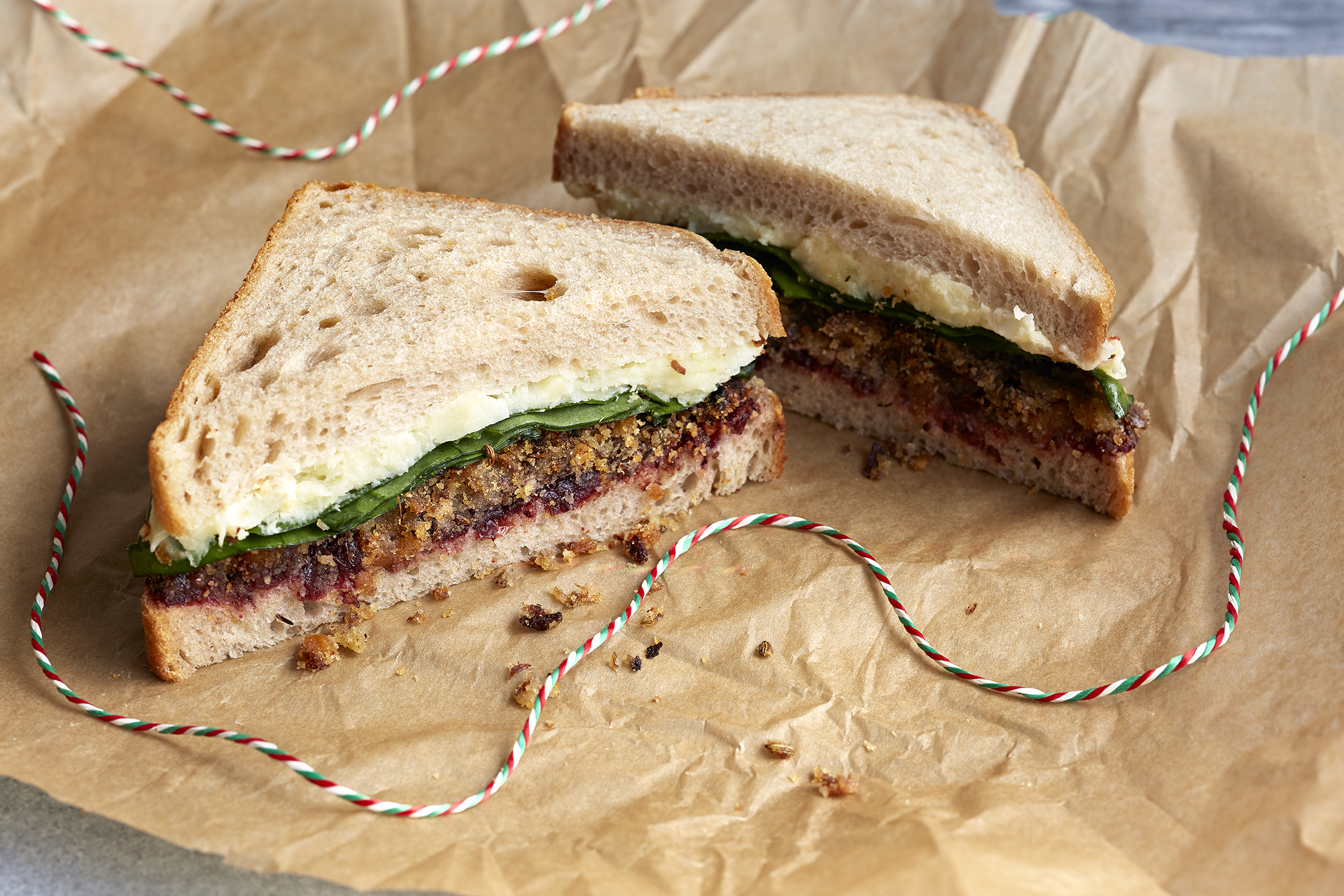 Testing this recipe is the reason - I can't do up my jeans anymore. Even Teo our meat-loving chef is addicted to this stuff.It's goes in our vegan Christmas sandwich with cranberry sauce, parsnip and spinach, which is currently selling like hotcakes at Planet Organic (get it during December).  You need to think about your Boxing Day sandwich too - so I urge you to make more than you need!