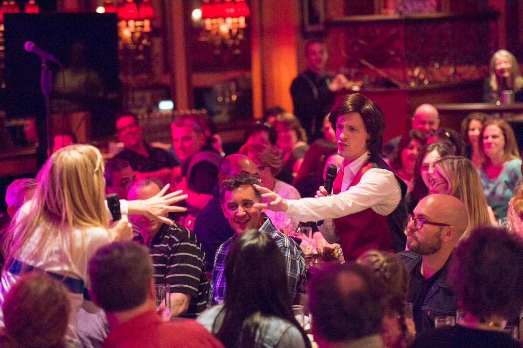 Cali Elizabeth Moore (Marcia), Alex Goley (Keith) at 54 Below - photo by Tom Henning