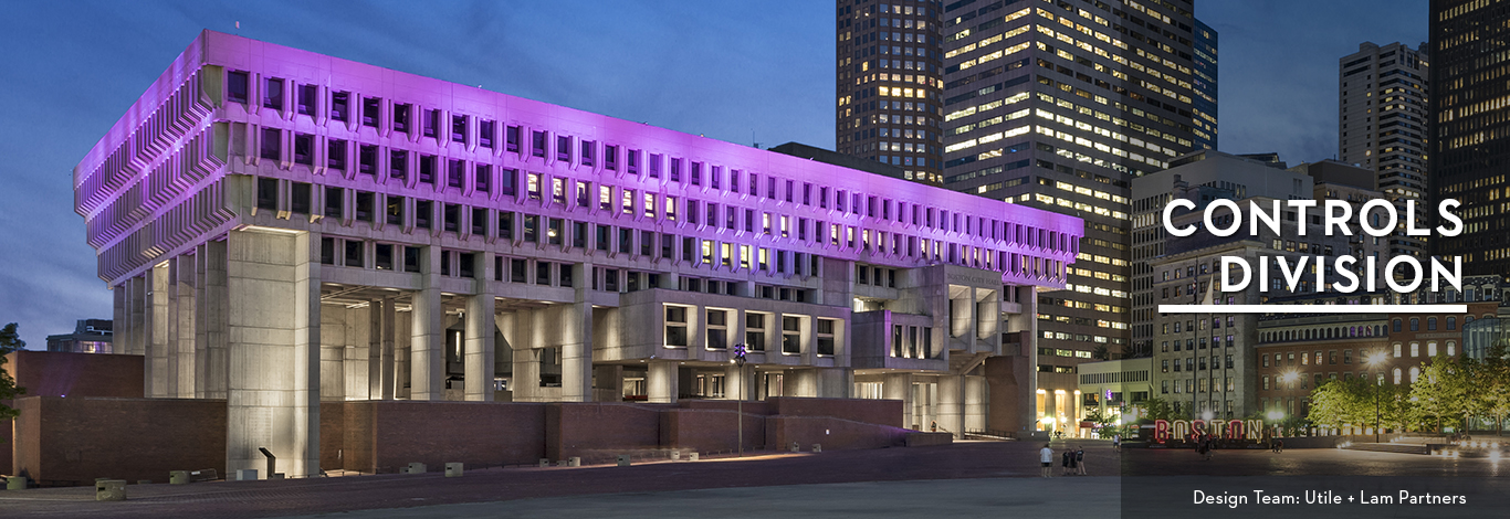 Boston City Hall – Control system design and programming for Boston City Hall interior and exterior lighting