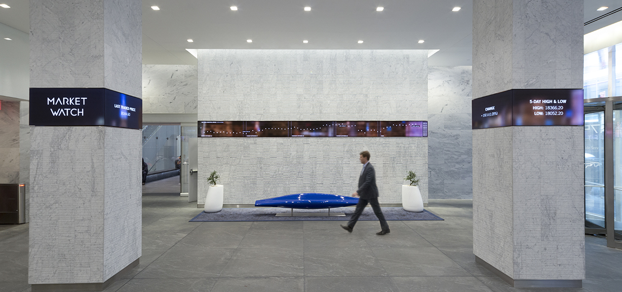 575 5th Avenue Lobby – Corporate lobby renovation in Manhatten