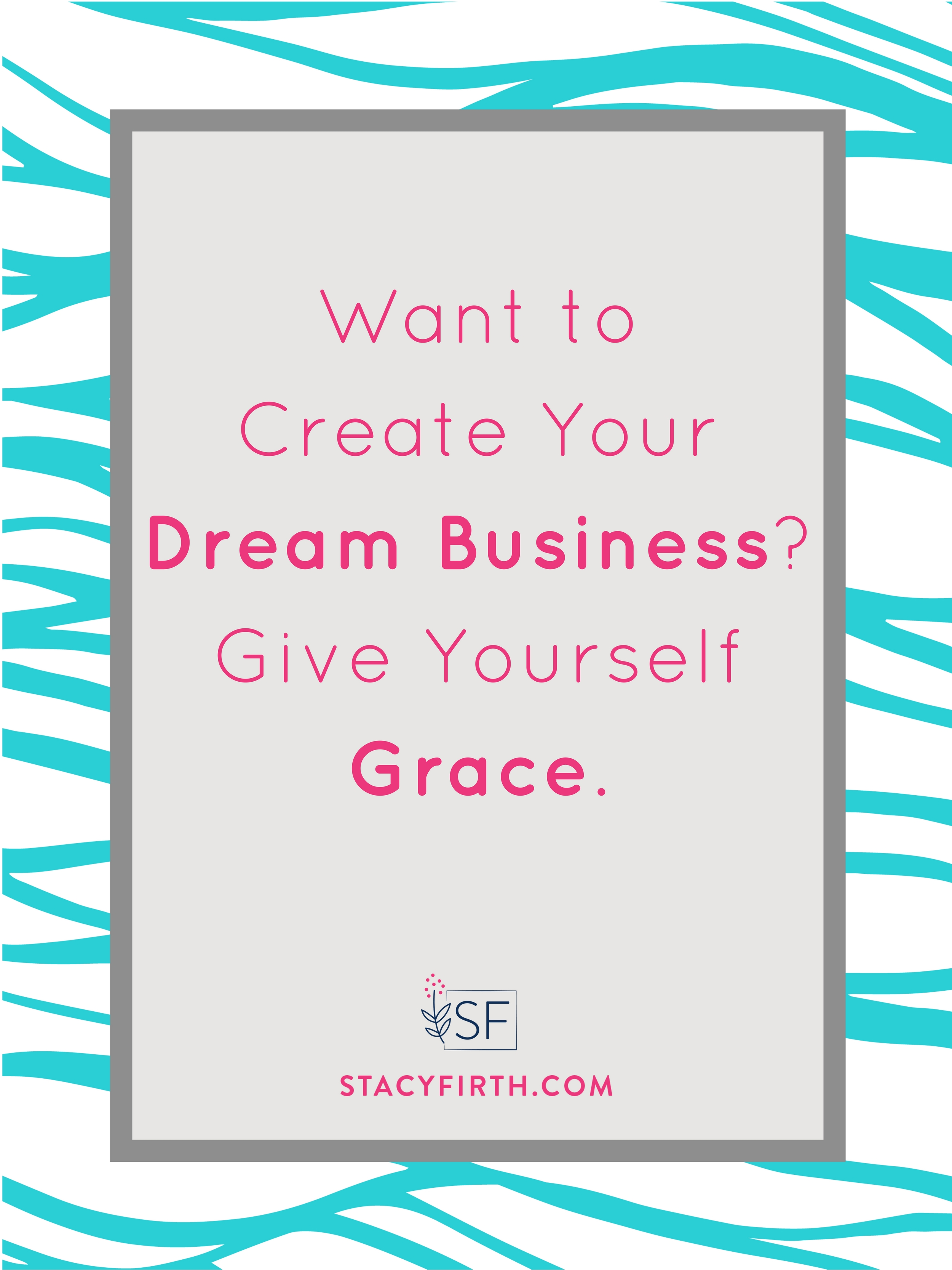 As moms and business owners, we are striving, always.We need to stop being so hard on ourselves. We need to give ourselves grace. Here's how to create a space for grace in our lives each day?