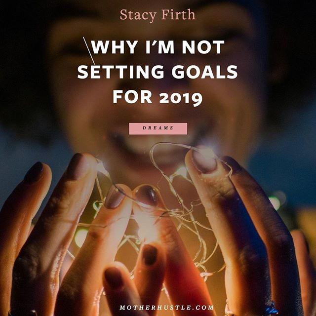 Goals are the things that, in the past, I have decided I need to do to get where I want to go. I no longer want to decide that in advance. I don't want to attempt to contrive what this year will bring, and break it down into small steps, and cross items off a list each week for the next 12 months.⁣ ⁣ That has been my approach in years past. It has led me further from my quiet little whisper of truth. ⁣ ⁣ This year, I instead want to connect deeply to all that I believe is possible for me in this life. And then I want to let go. I want to live in each day, be present for it. I want to do what lights me up now, and now, and now. I want to finally allow my gut feeling to be my guide.⁣ ⁣ [read the full essay on motherhustle.com; link in profile]⁣ ⁣ .⁣ .⁣ .⁣ .⁣ .⁣ #mompreneur #momboss #bossmom  #likeaboss #mombosslife #momonamission #mompreneurlife #mombossesrock  #savvybusinessowner #inspiredwomen #momlife #motherhoodunplugged #uniteinmotherhood #momsofinstagram #lifeofamama #calledtobecreative #lovebeingboss #liveintentionally #writelife #writing #writerslife  #writersofinstagram #writer #creativehappylife #buildyourdreams ⁣