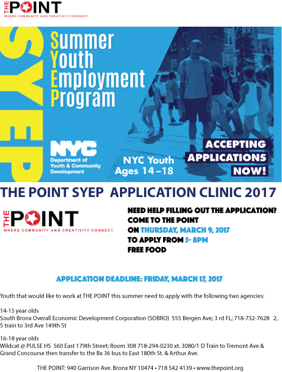 Summer Youth Employment Program Hunts Point Nyc