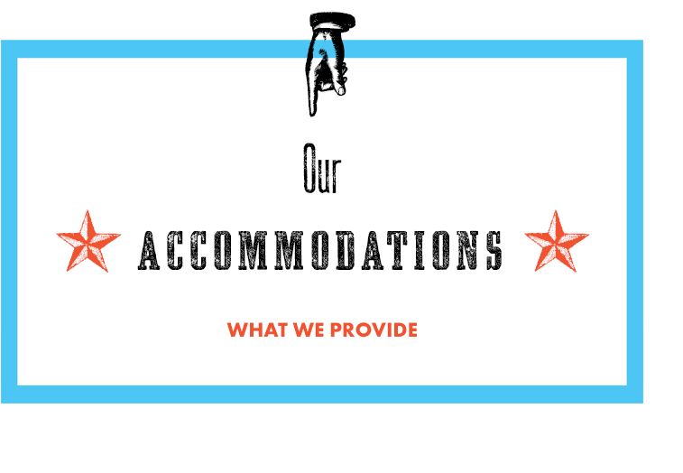 Accommodation Details - Our venue accommodates:60 guests seated100 standingYour Rental includes— 40 metal folding chairs— Four 8' folding tables— Platform stage—One staff member for duration of rentalDo you need more space?Weekend add-ons available for $100 to accommodate 50 standing, 24 seated in our Book Arts and Printmaking Studio. One additional staff member will be present.