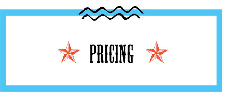 Pricing Details - Weekdays$35 per hour Monday through Friday, between 9am – 6pm2 hour minimumWeeknights$140 Monday through Thursday , 6pm – 10pmWeekends$280 for four hours* Saturday 12pm – 4pm$280 for four hours* Sunday 12pm – 4pm or 6pm – 10pm$450 for four hours* Friday or Saturday, 6pm – 10p*All weekend events require a $100 damage deposit20% discount for Non-Profit Organizations