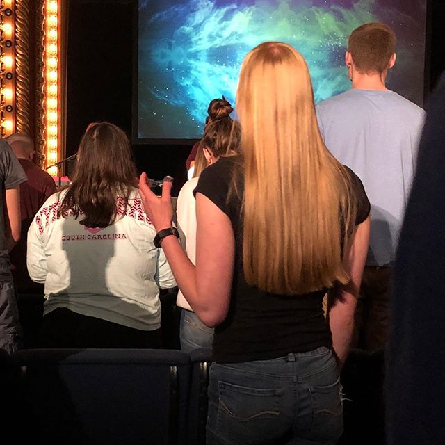 Worshipping with our brothers and sisters in Christ (and our new friends  from work and campus, too) is so very sweet!