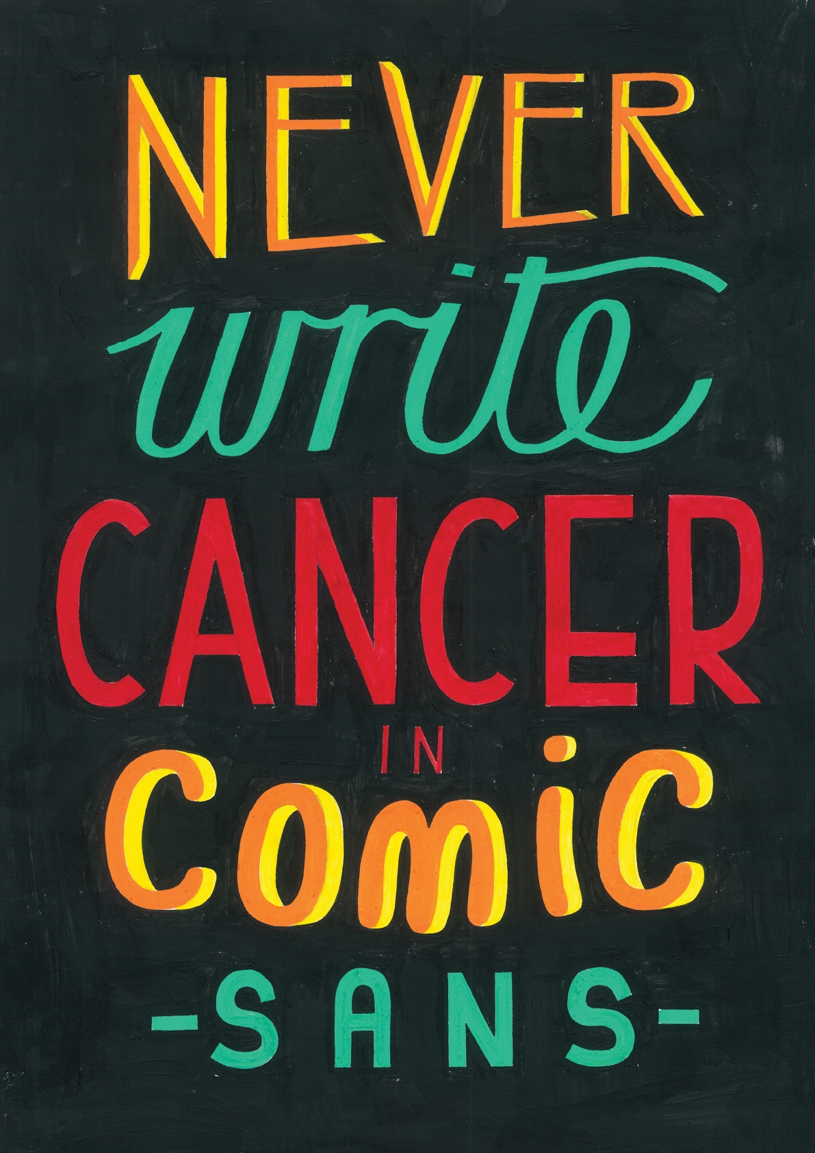 Contribution to  Comic Sans for Cancer  – a  Studio Theolin  project