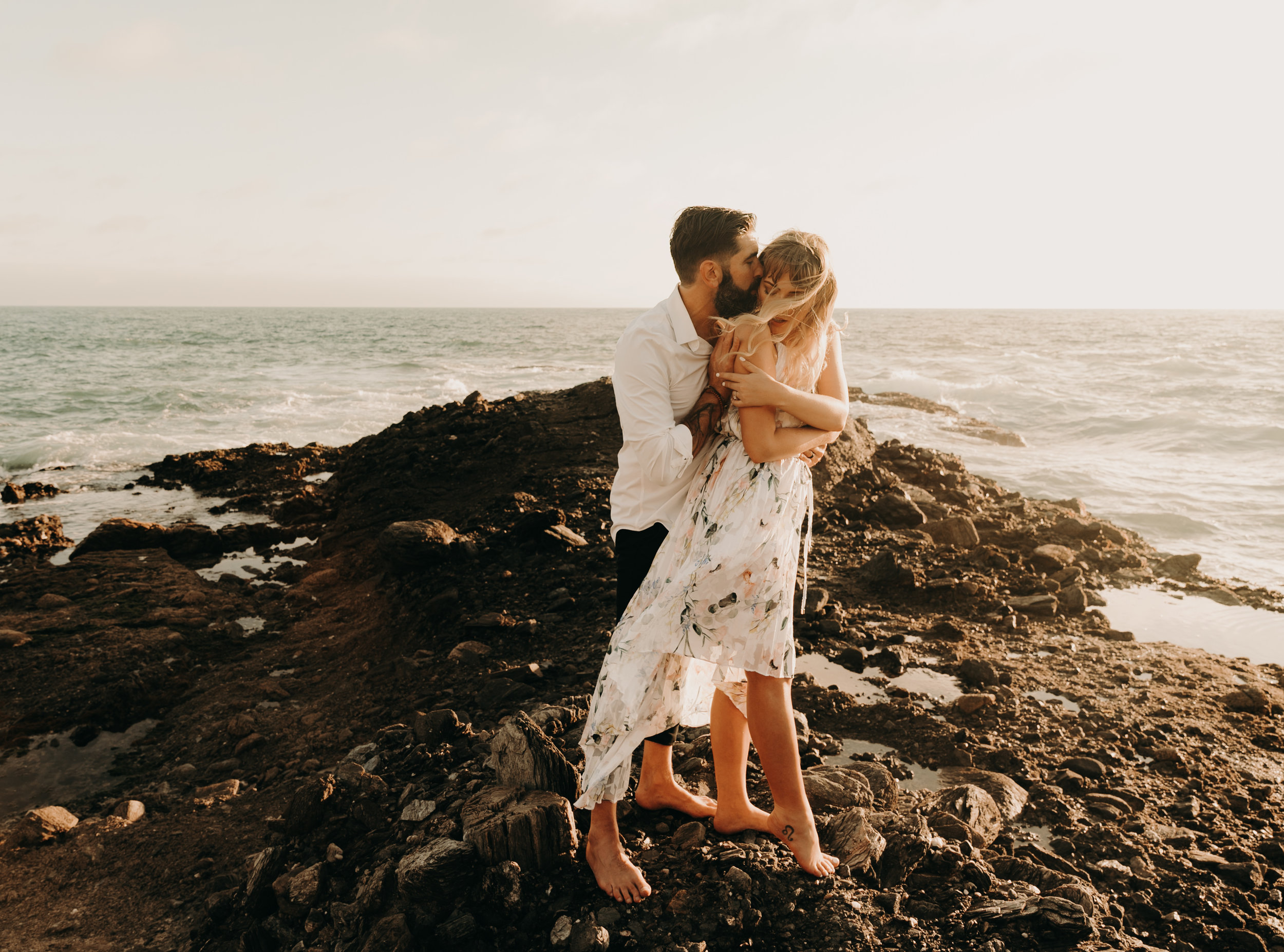Romantic Table Rock , laguna beach engagement shoot    Engagements