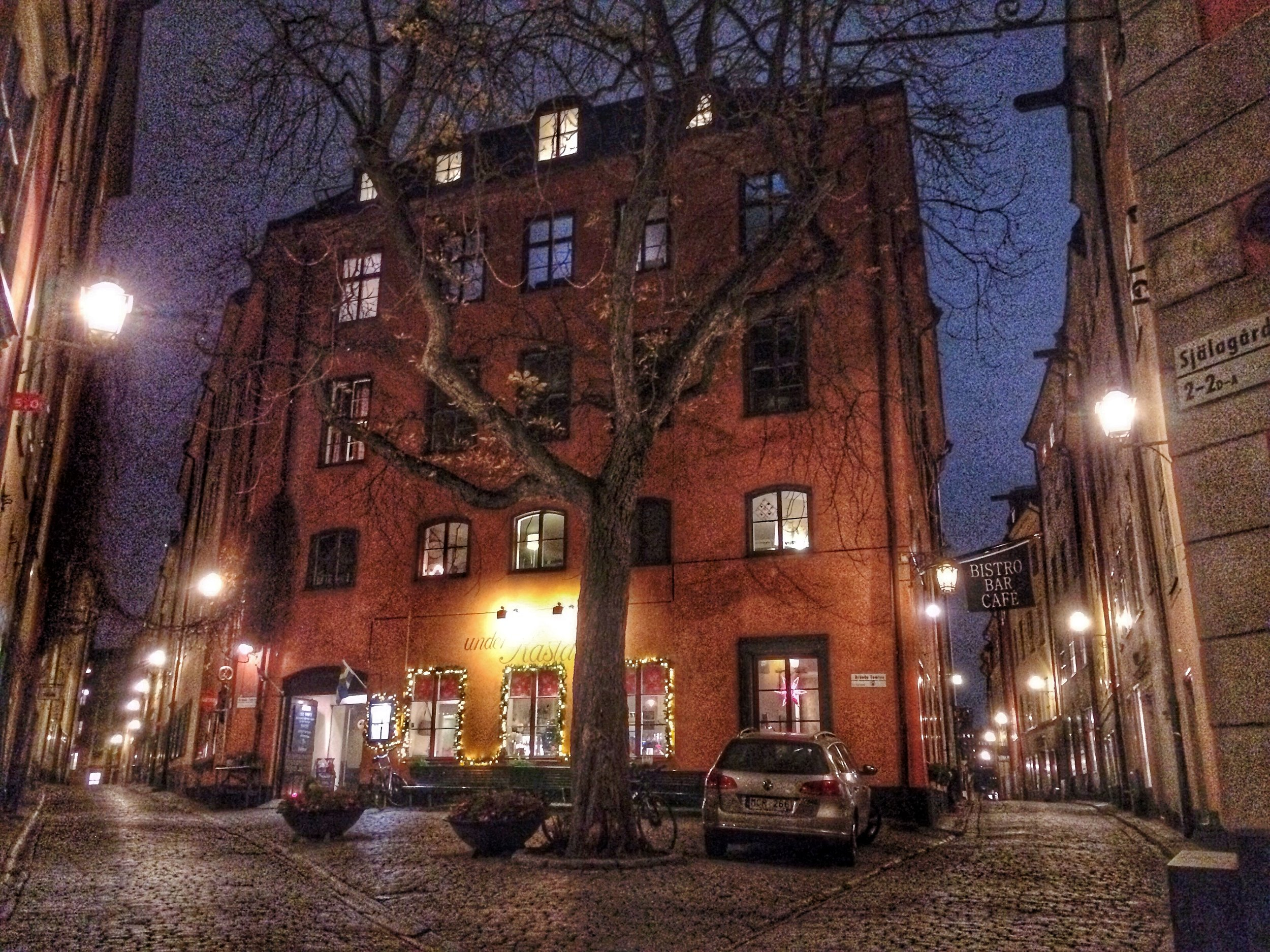 The outside of the Castanea Hostel in Stockholm