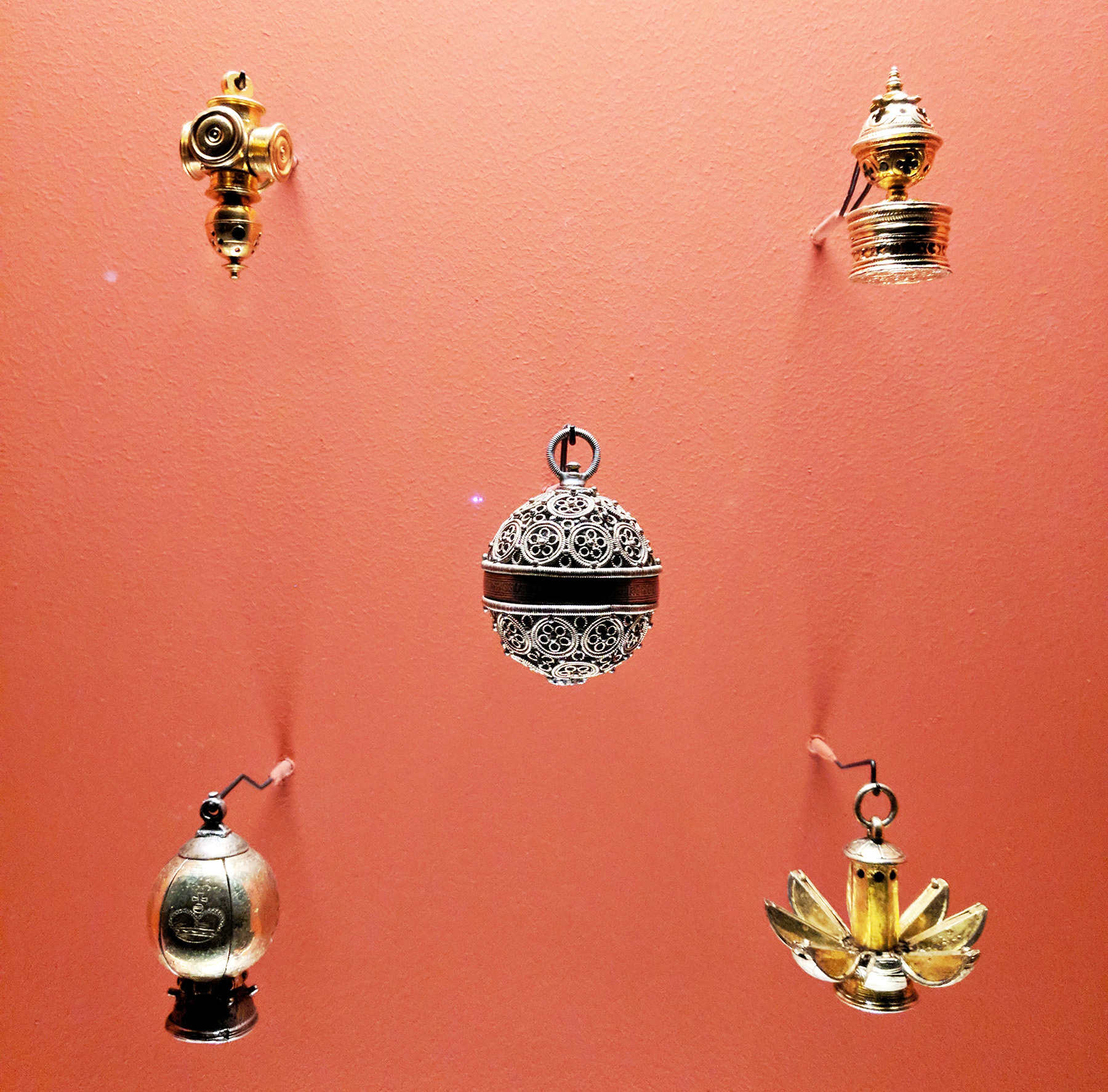 The cutest little pomanders on display in the museum