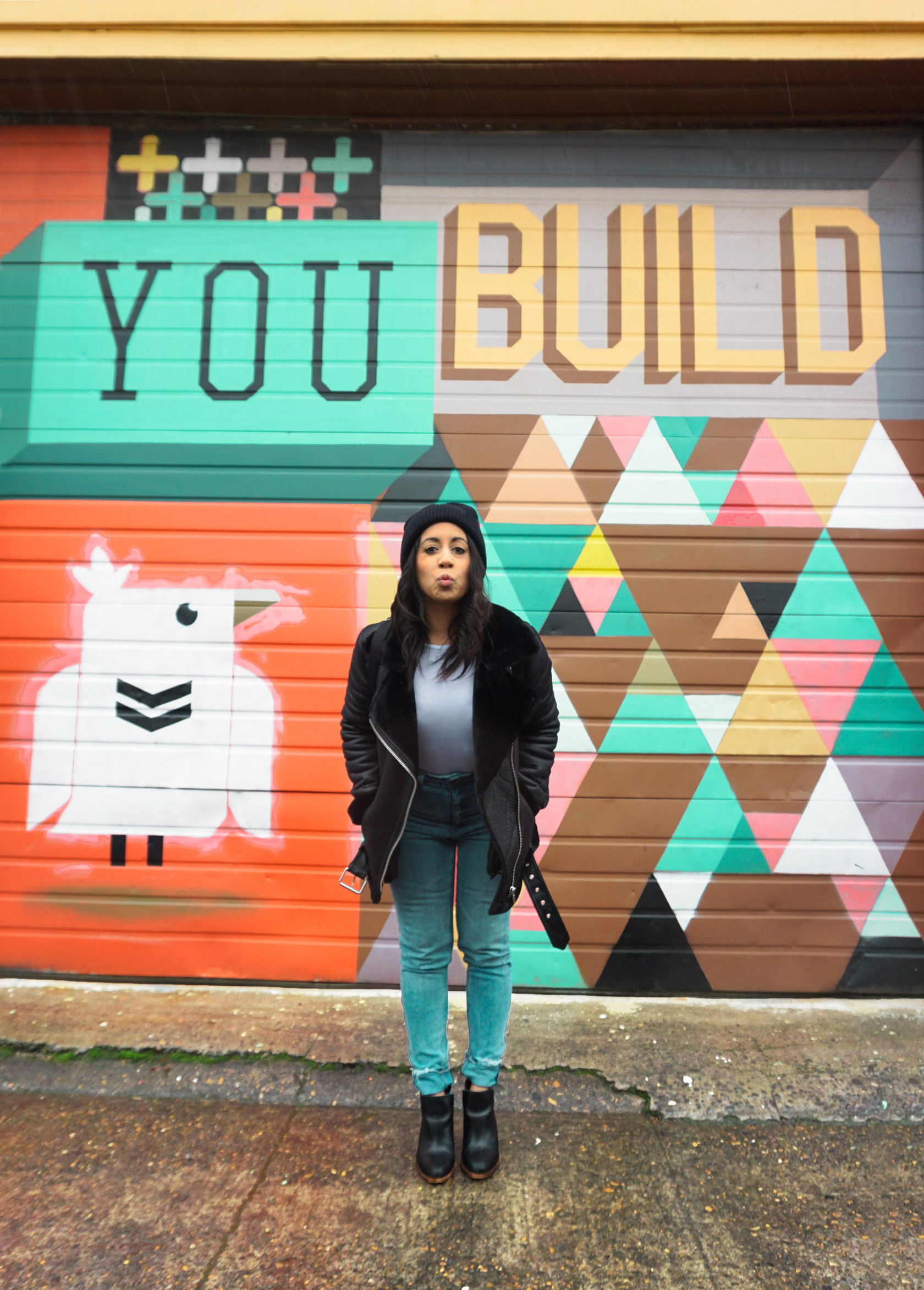 To Oregon With Love mural in NE Portland by Blaine Fontana
