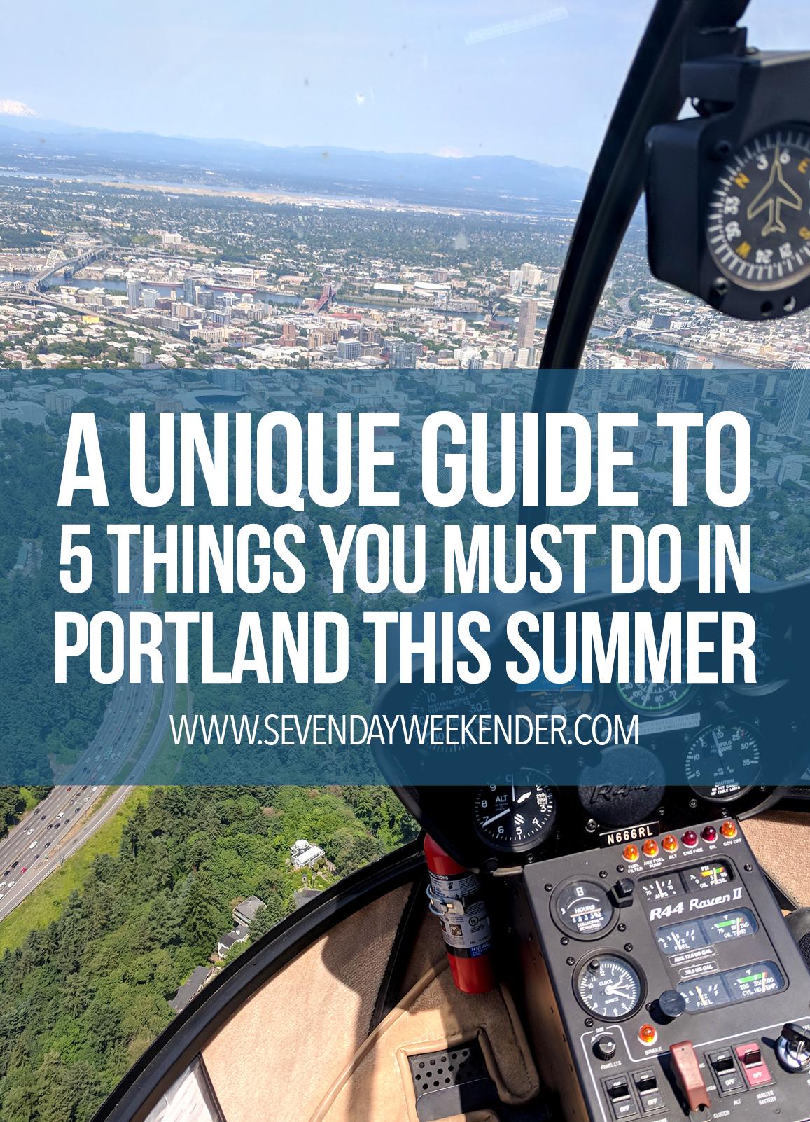 Unique Guide to Portland in Summer