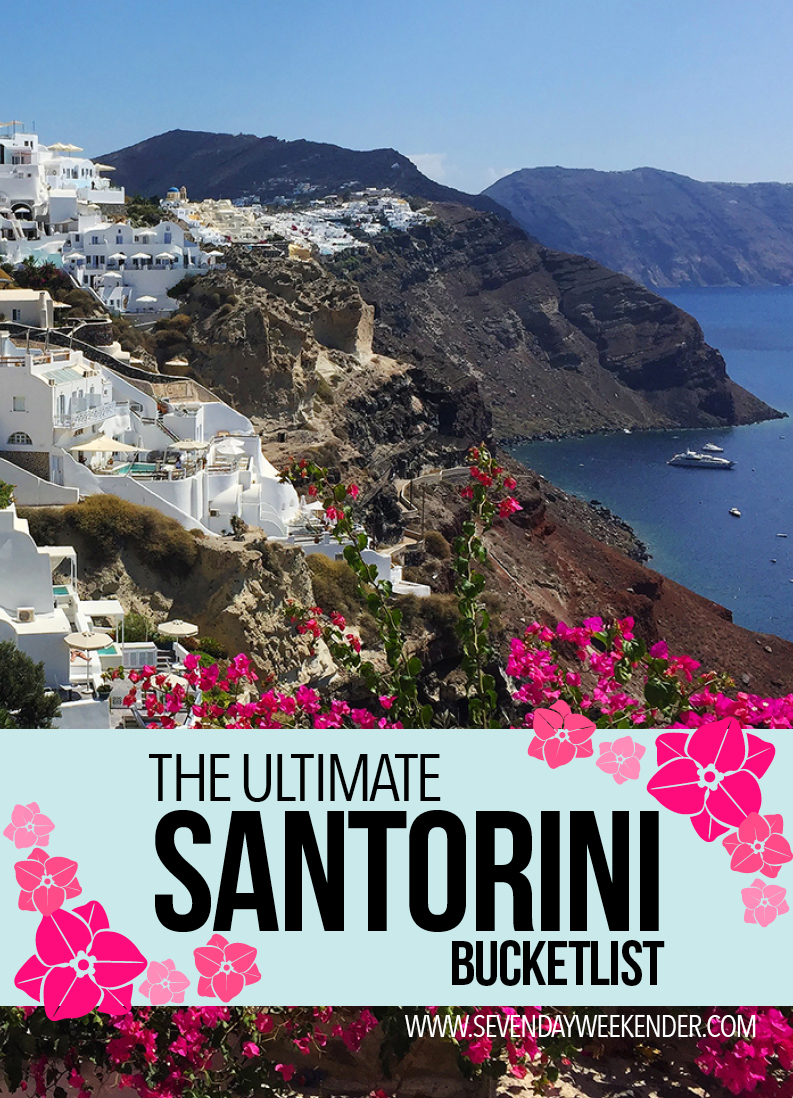 Your Santorini Bucket List