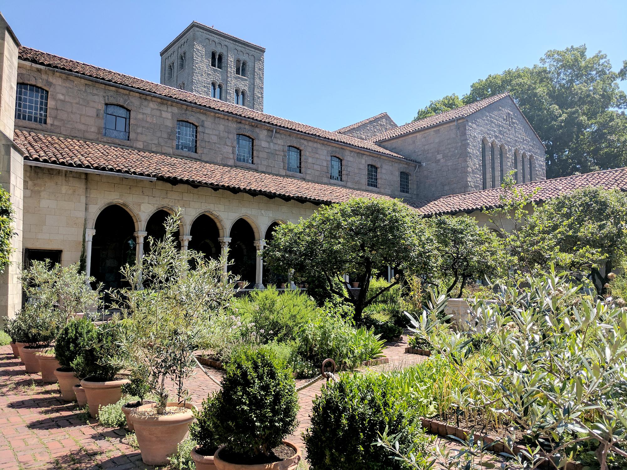 Cloisters garden view