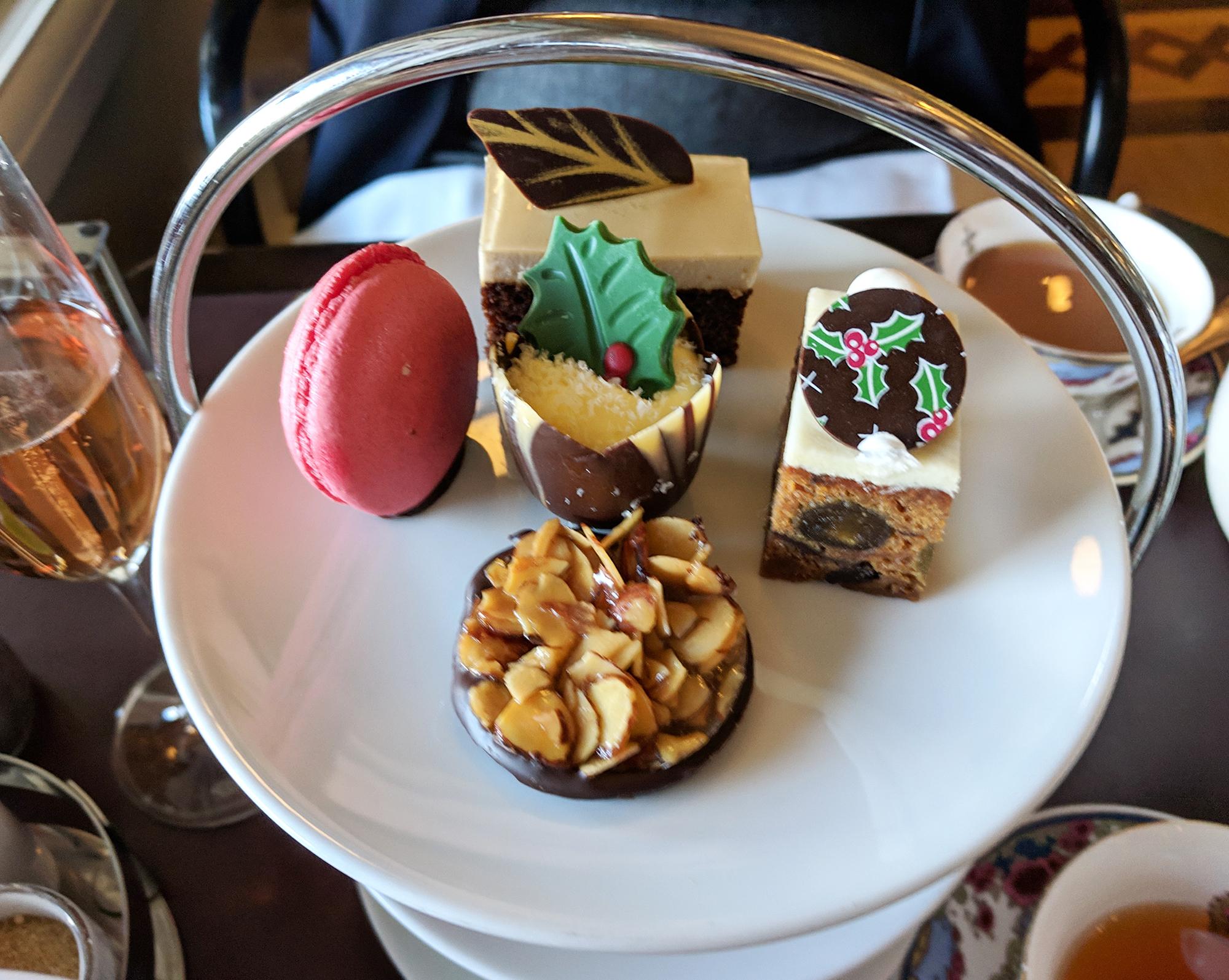 Dessert options for the seasonal festive tea