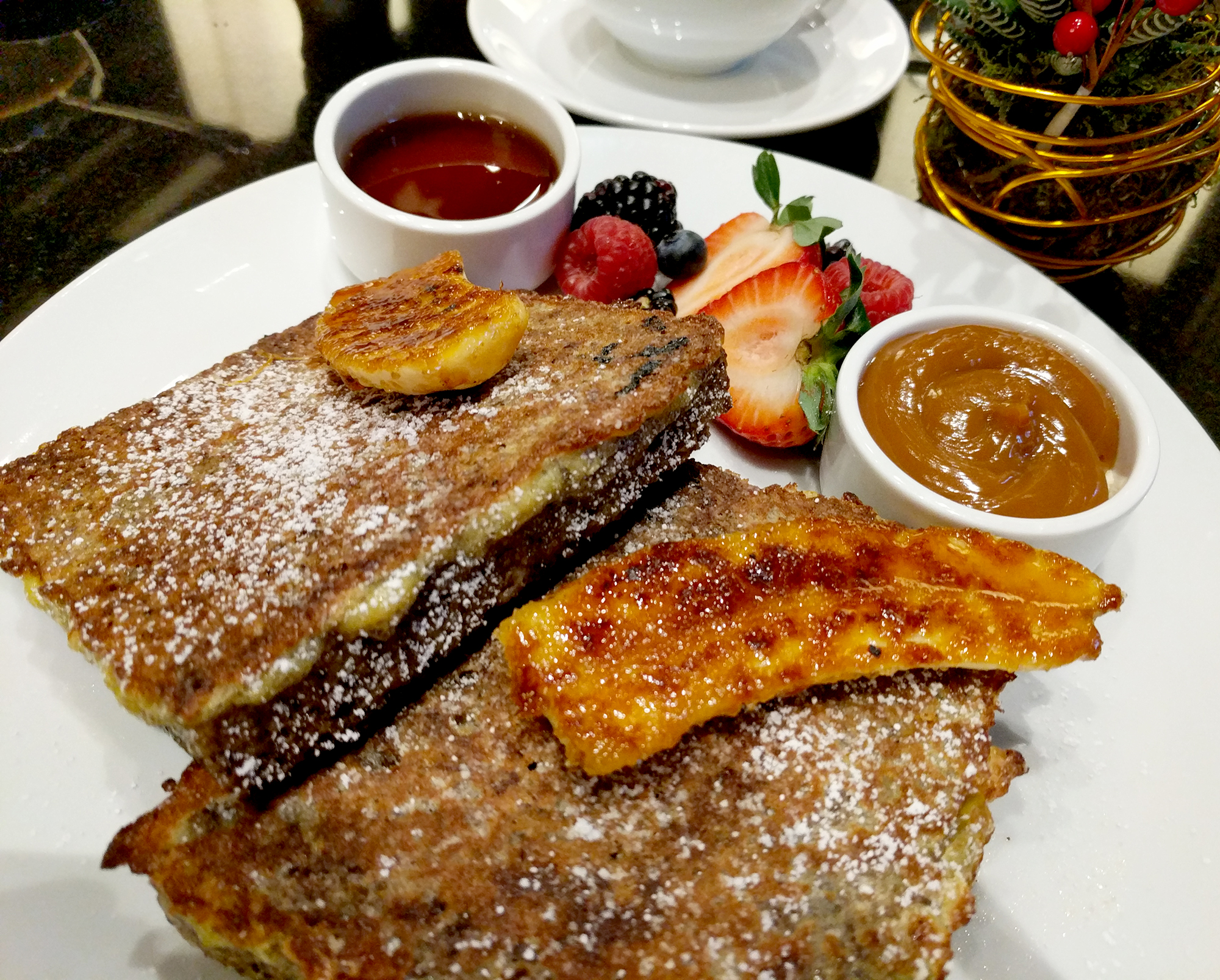 Q at the Empress french toast