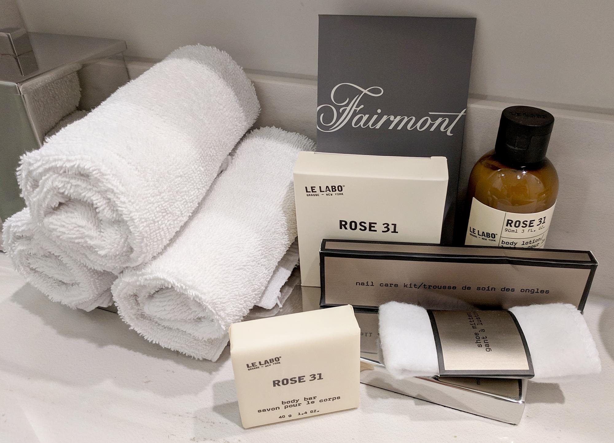 Fairmont Empress Le Labo products