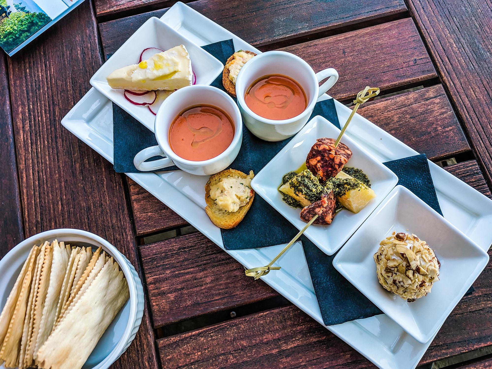 Adelsheim tasting spread