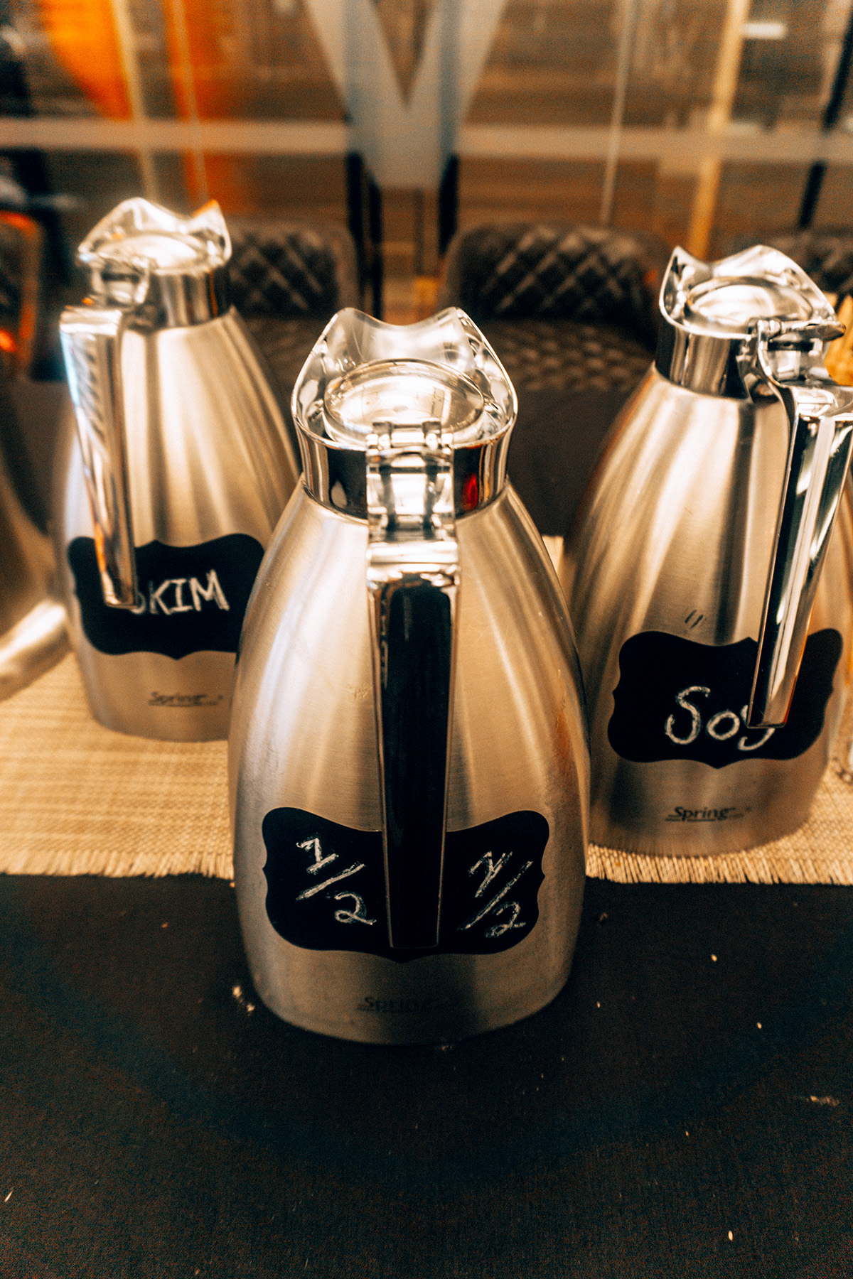 Hotel Vintage coffee bar milks