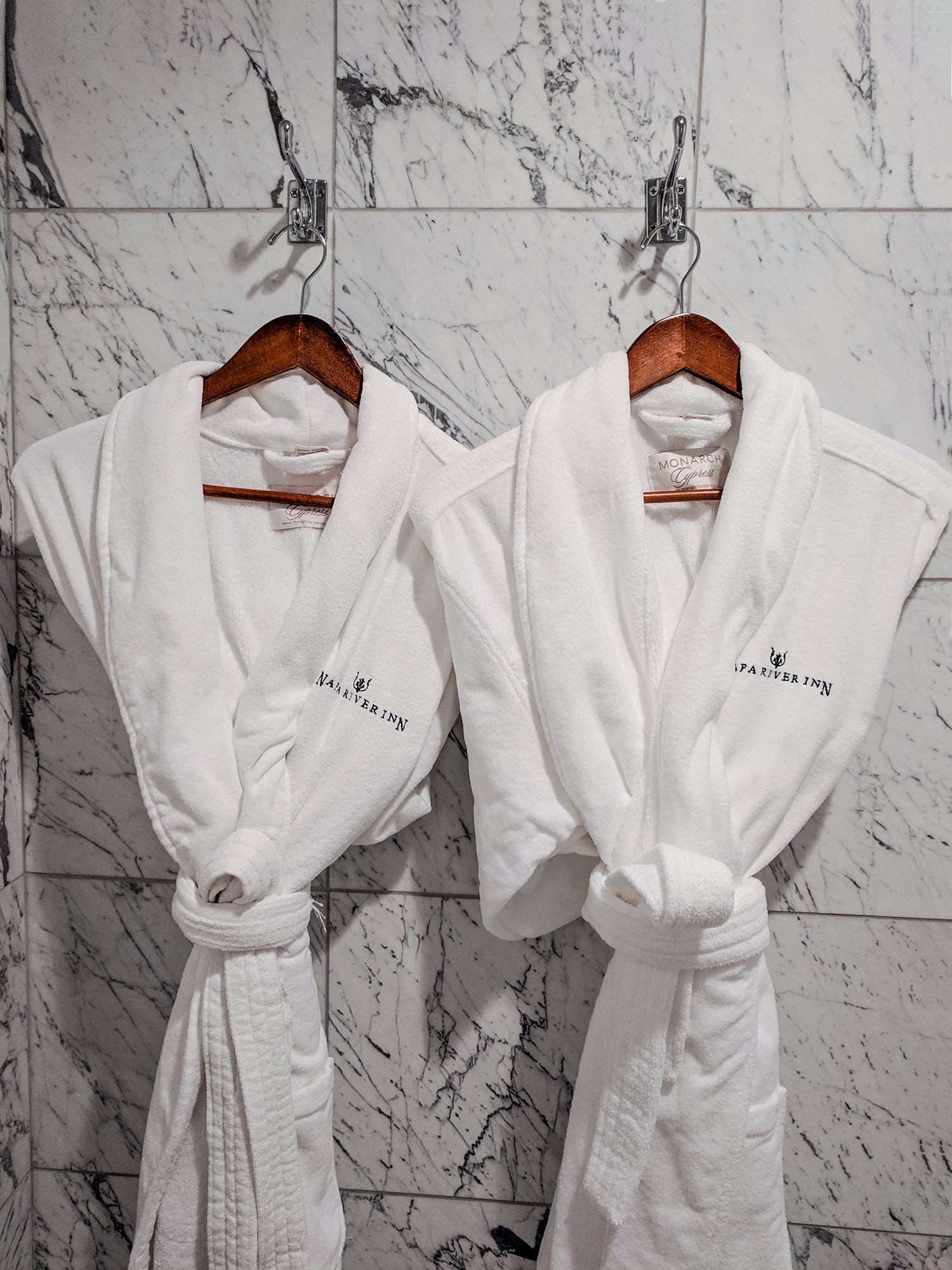 Napa River Inn robes