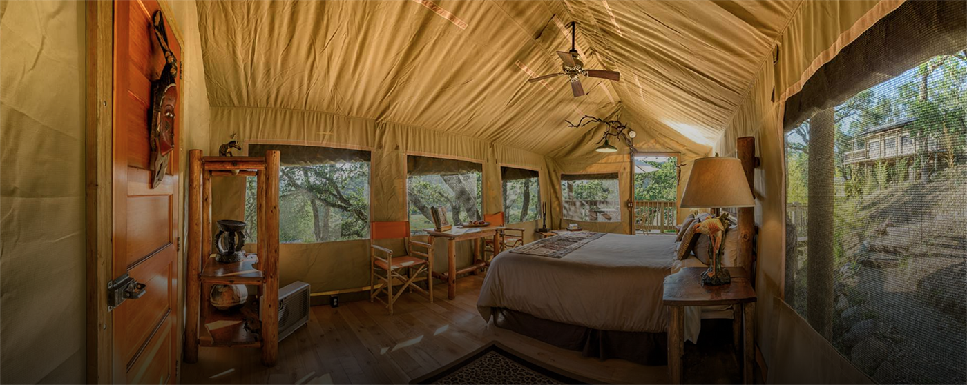 Luxury canvas tents (via  Safari West )