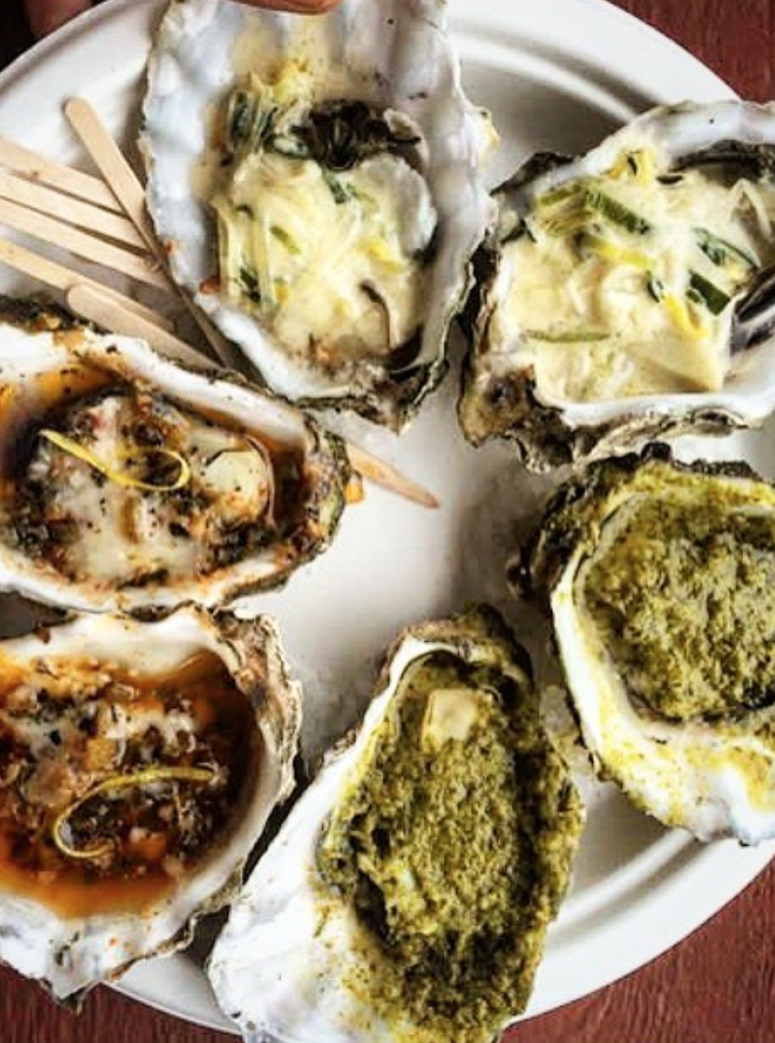 Baked Oysters via  The Jolly Oyster