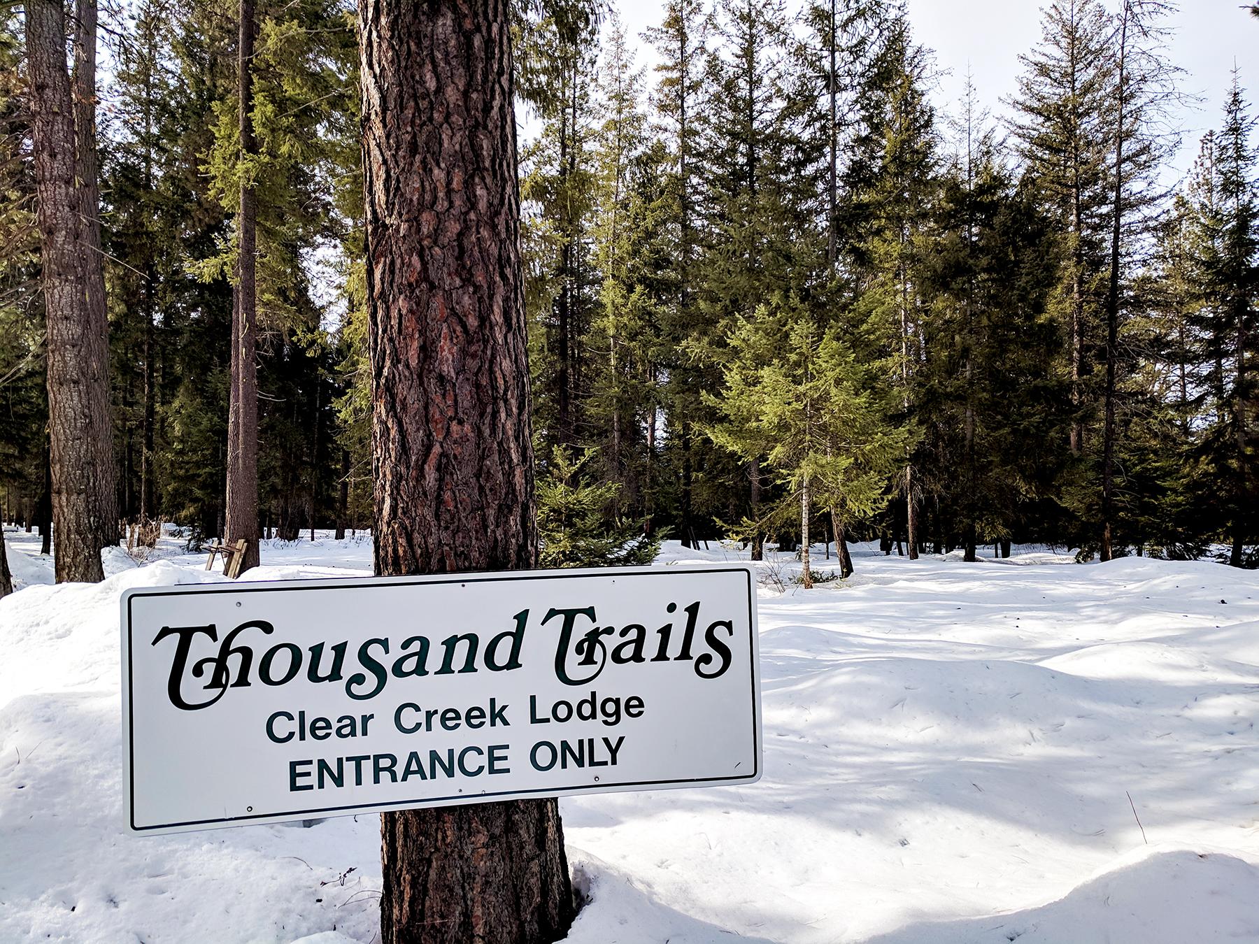 Thousand Trails Leavenworth sign