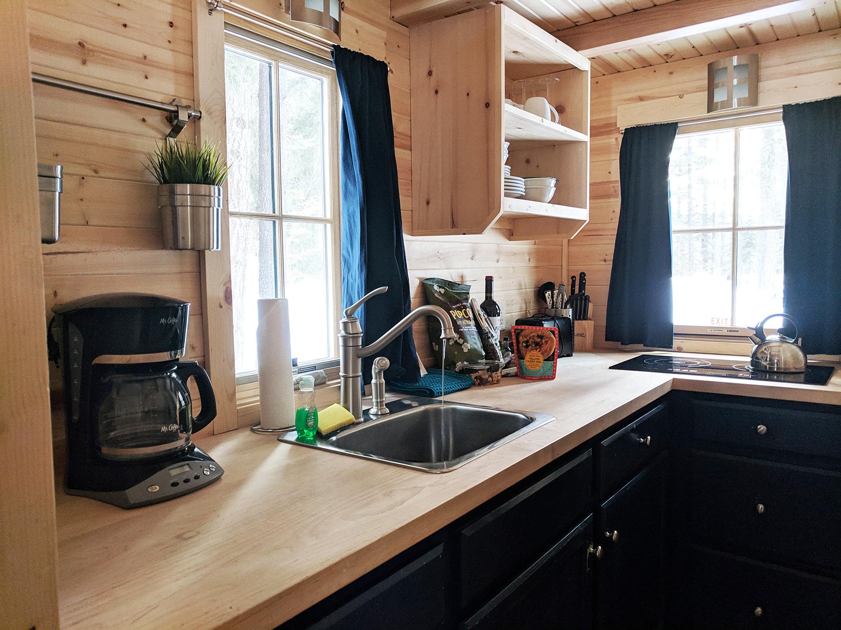 Otto tiny home kitchen