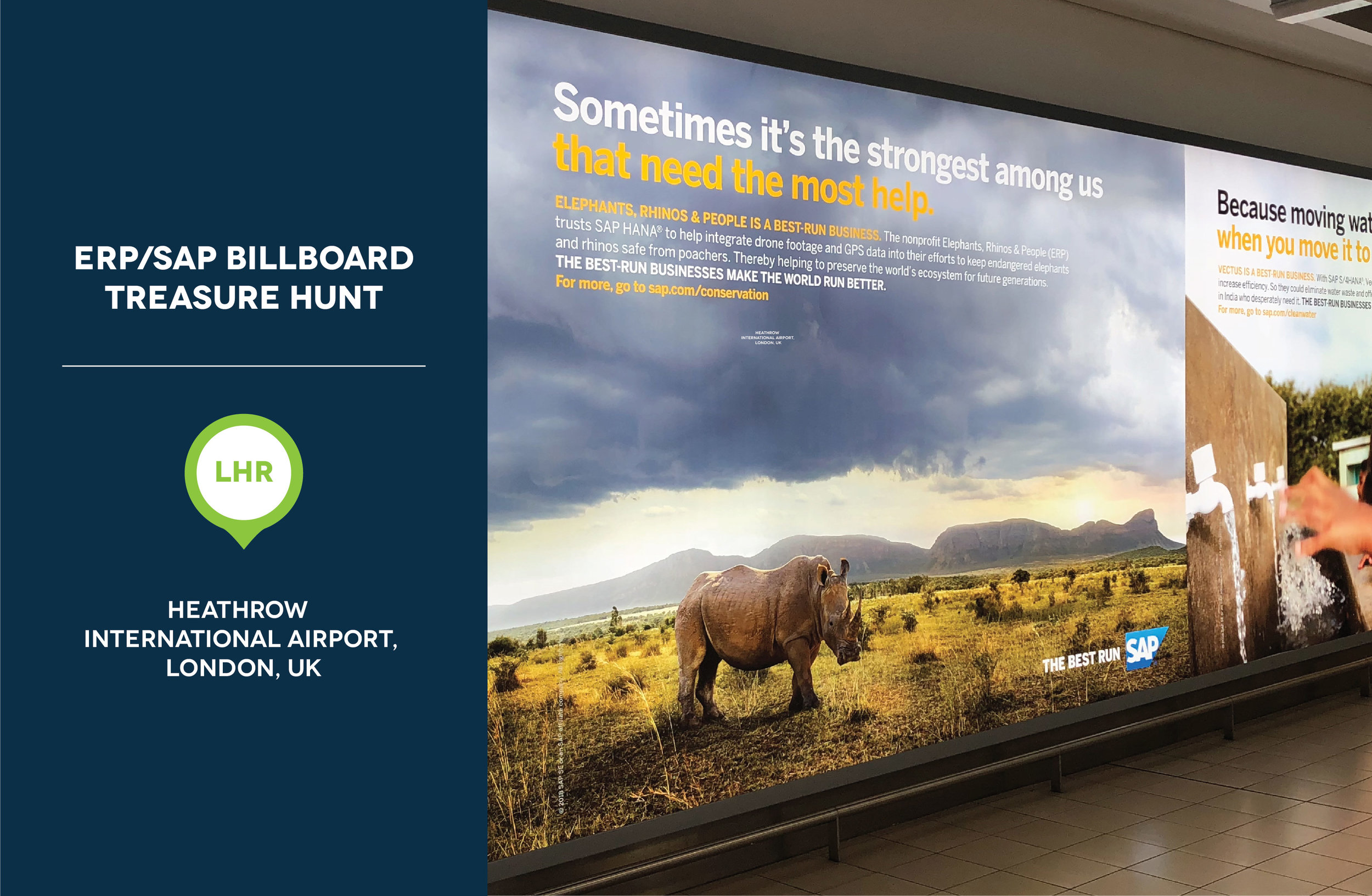 The third sighting was at Heathrow International Airport