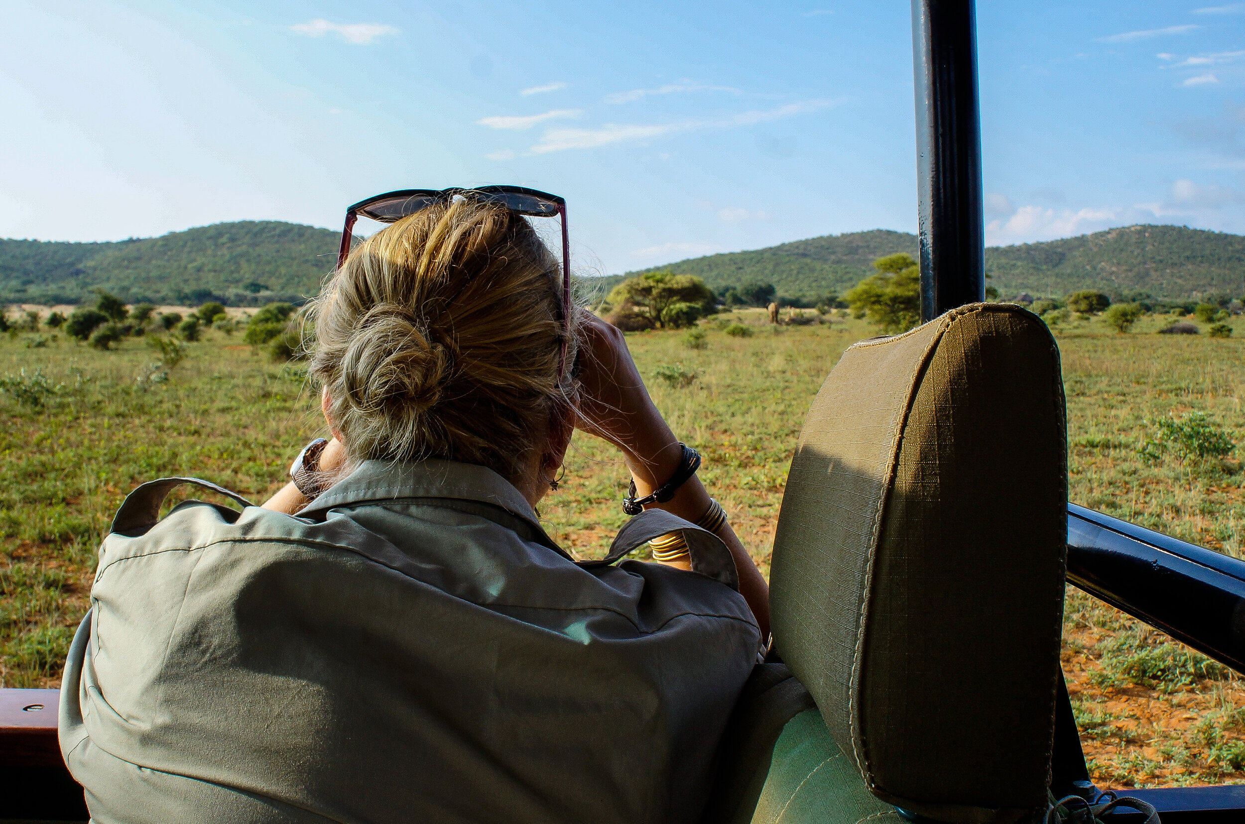 Observing elephants and collecting data on characteristics and behaviour for ID-kit. Photo Ida Hansen
