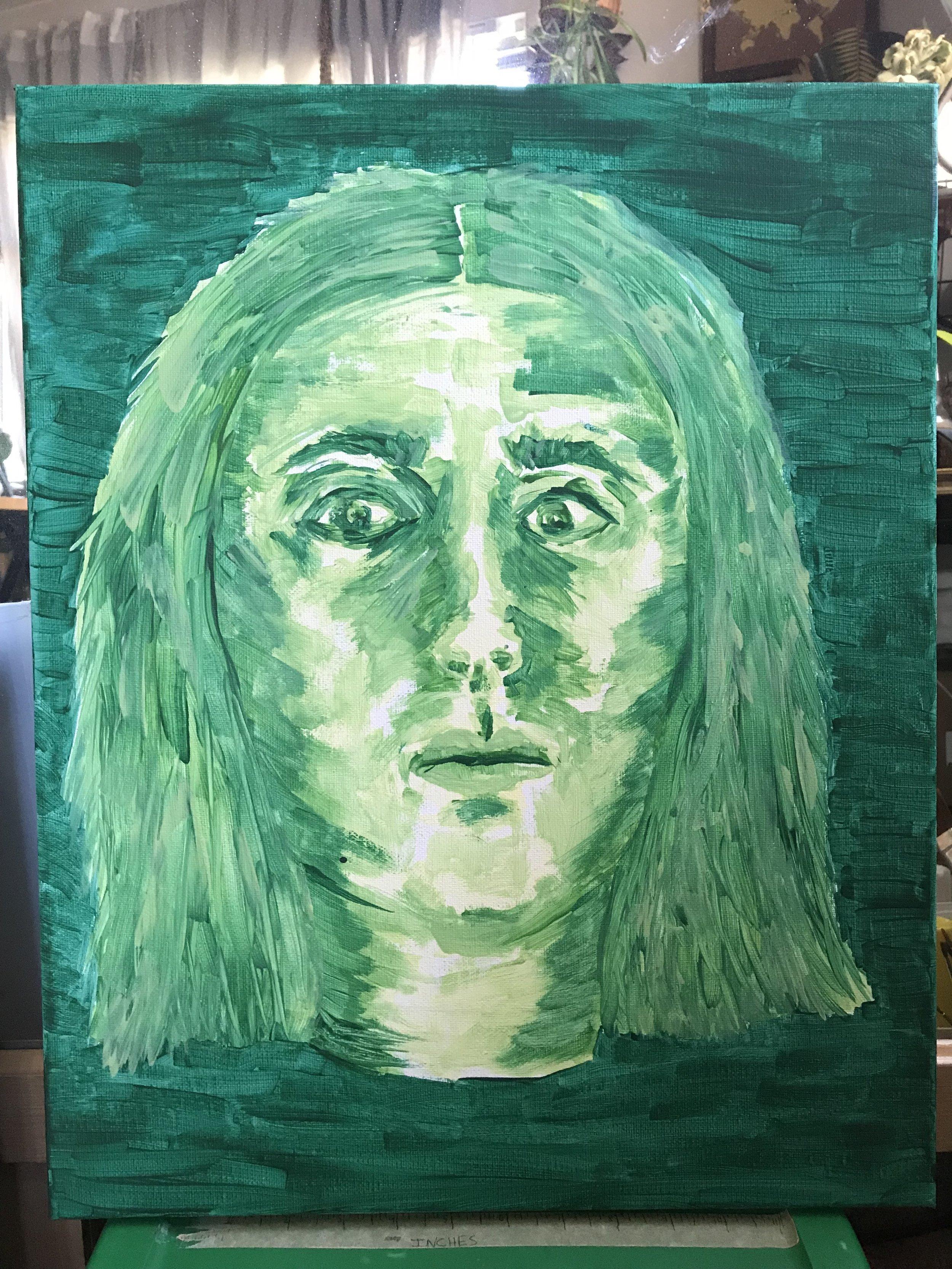 Monochromatic Self Portrait