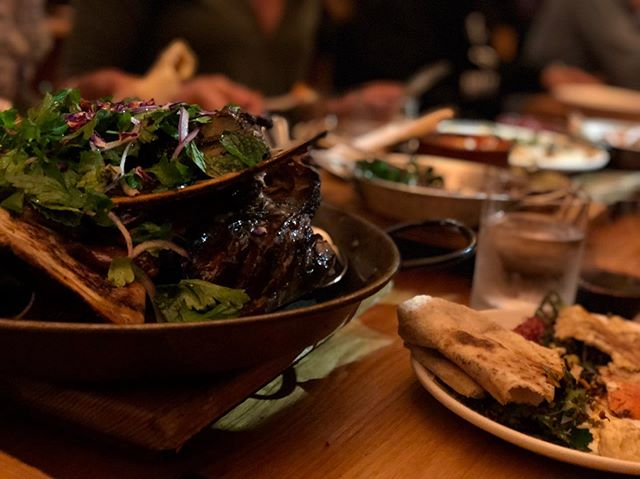Sit back and let us handle the tough decisions. Our lamb roti dinner, perfect for groups up to 6, brings a delicious assortment of mezze, pita, and of course, a ginormous roasted lamb shoulder. Just give us a 48 hour heads up and we promise you won't leave hungry.