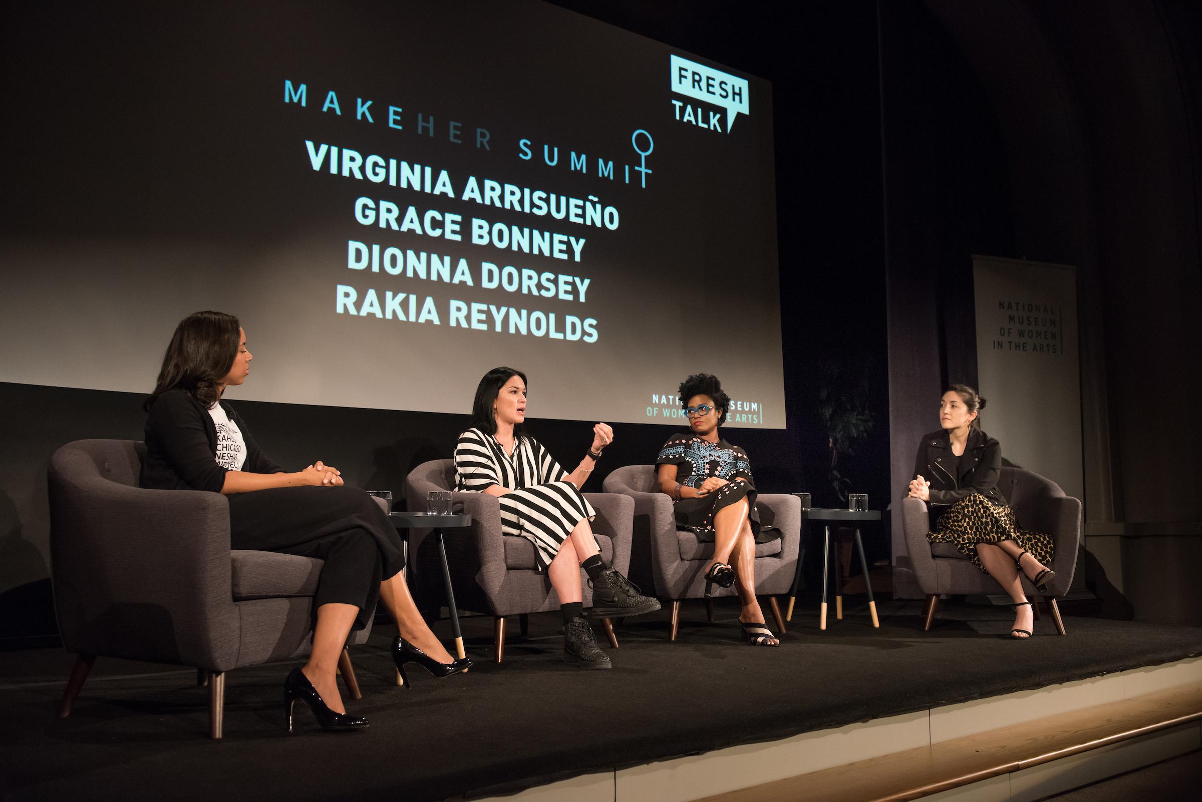 Dionna Dorsey, Virginia Blanca Arrisueño, Rakia Reynolds, and Grace Bonney.
