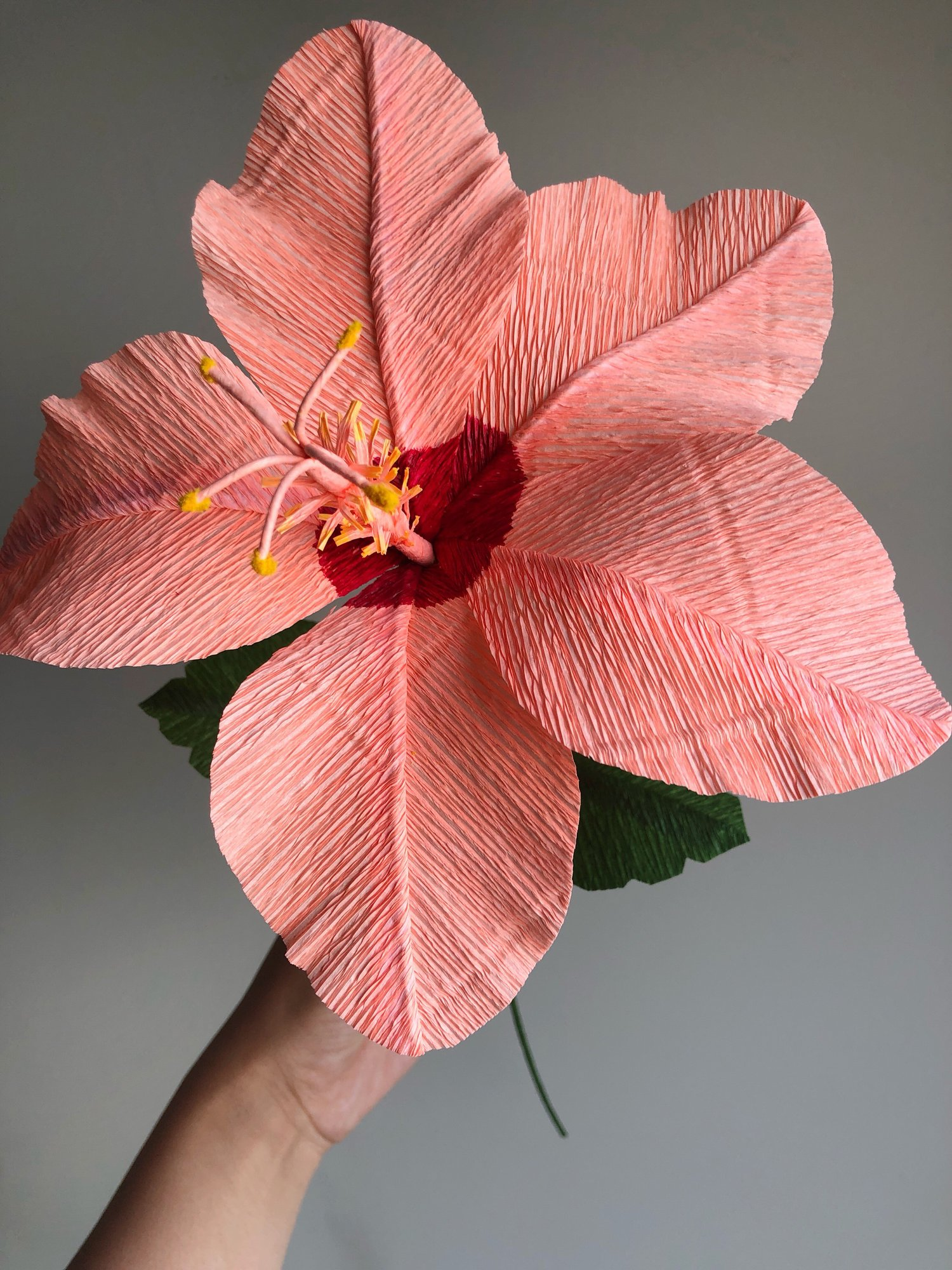 Paper Hibiscus Flower Making Workshop Taught By Revery Paper Flora