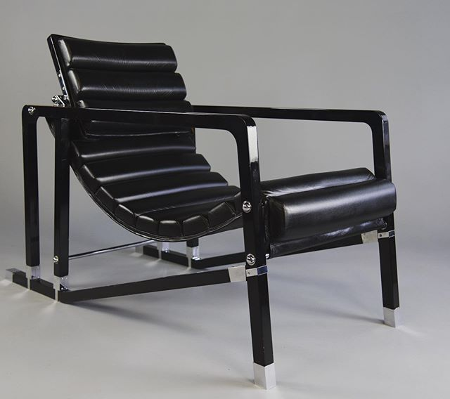 The Eileen Gray Transat Chair by Ecart Int'l.  This has been a very interesting chair to have in the studio.  It's now available - this example from the 1980s.